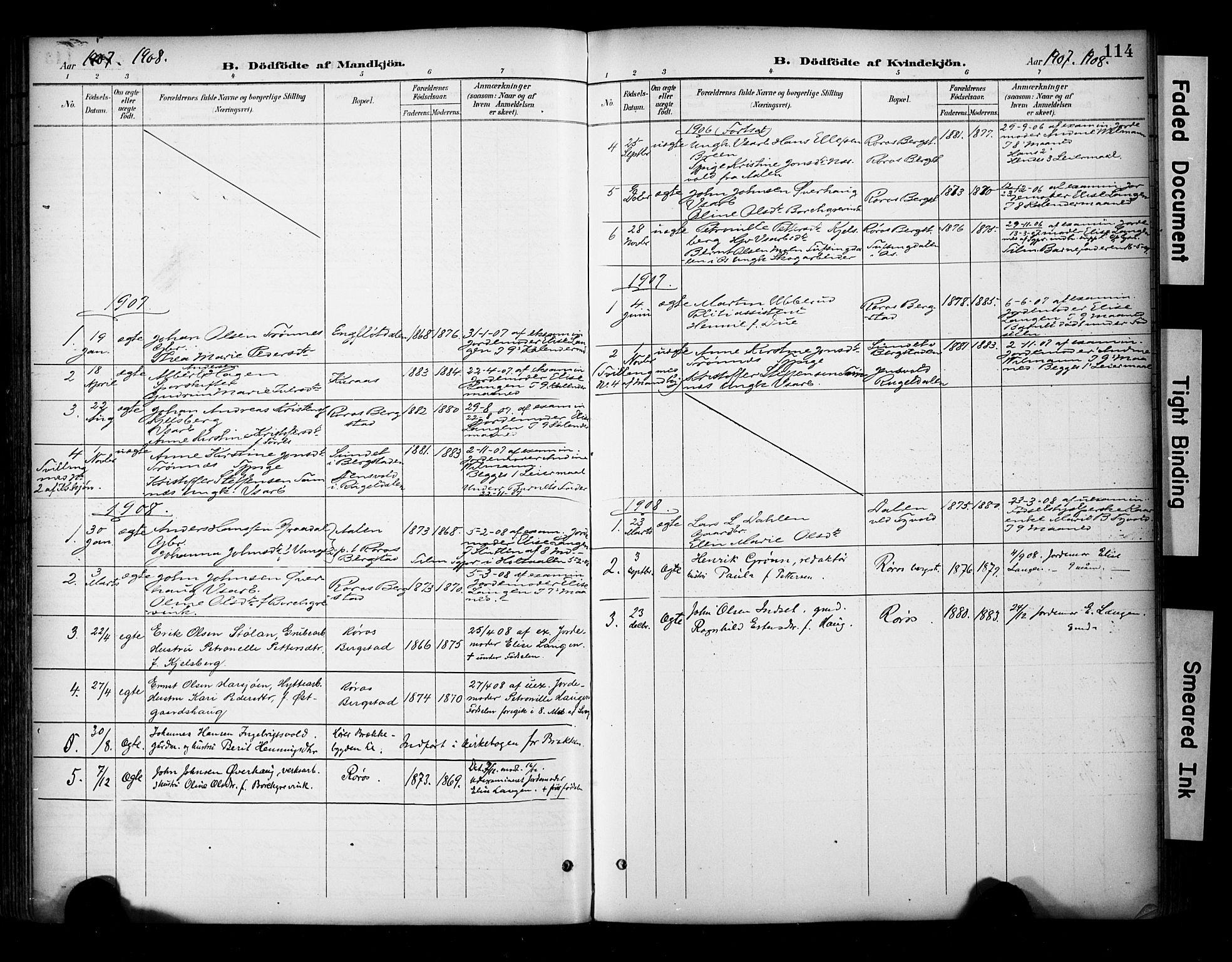 SAT, Ministerialprotokoller, klokkerbøker og fødselsregistre - Sør-Trøndelag, 681/L0936: Ministerialbok nr. 681A14, 1899-1908, s. 114