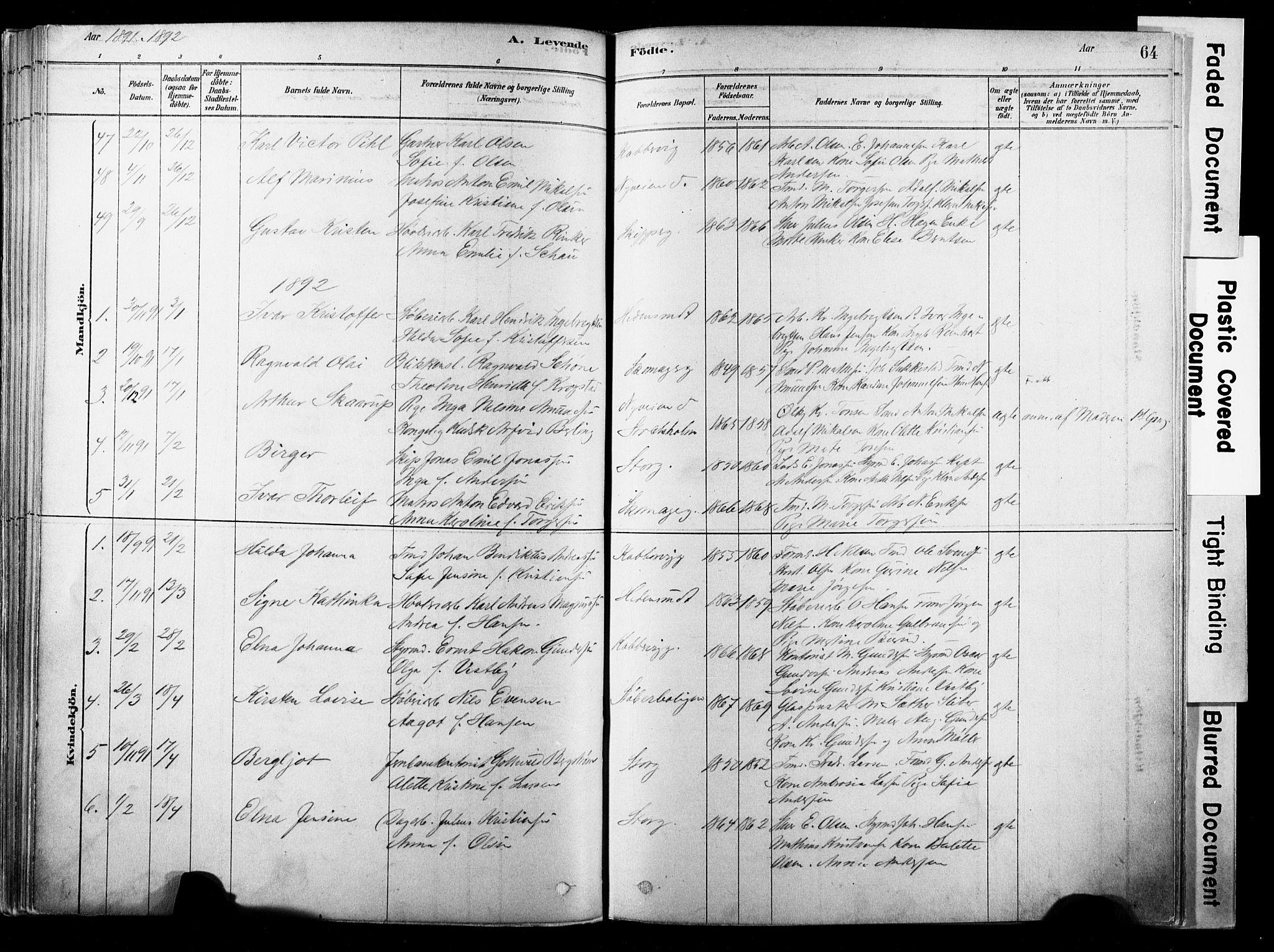 SAKO, Strømsø kirkebøker, F/Fb/L0006: Ministerialbok nr. II 6, 1879-1910, s. 64