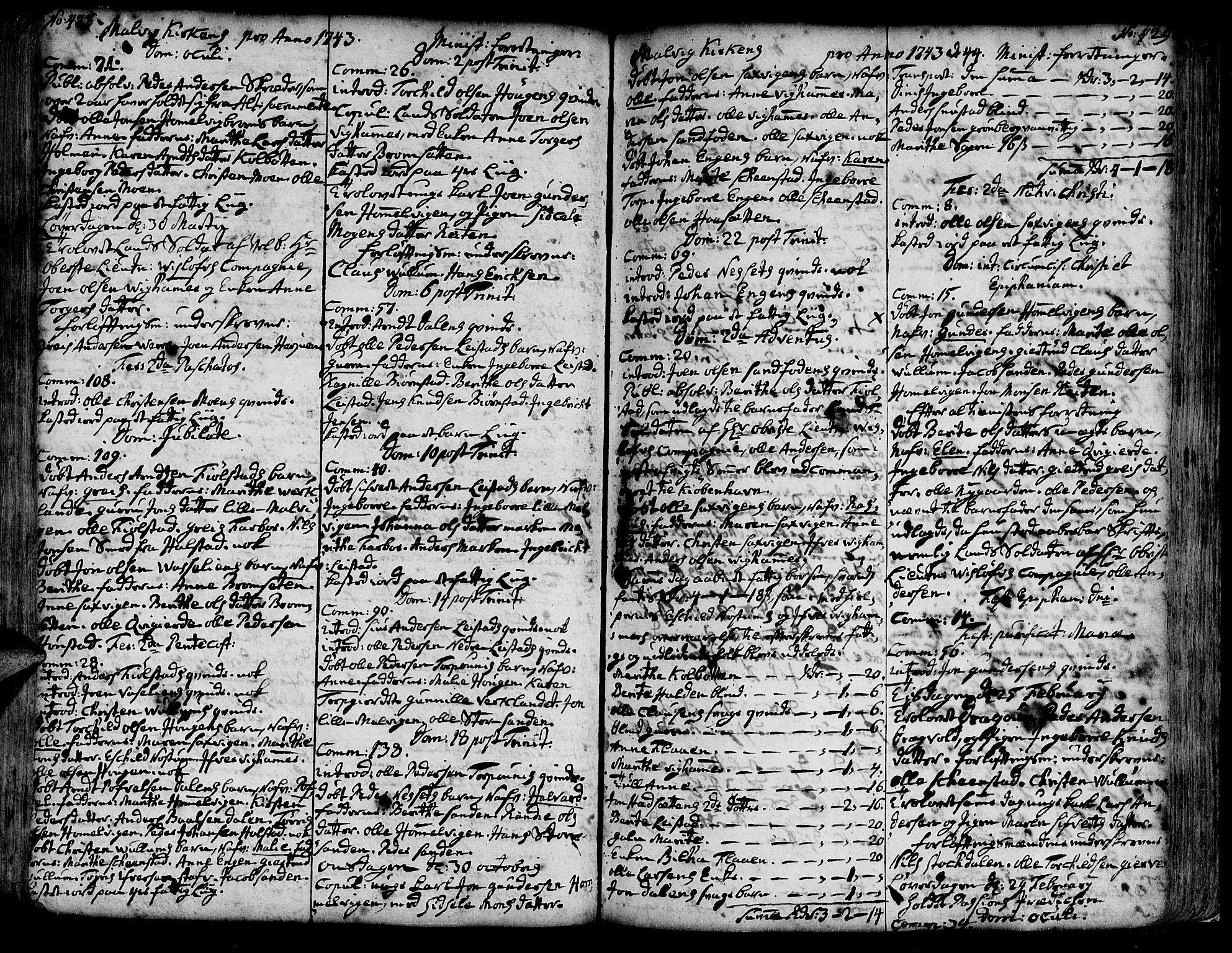 SAT, Ministerialprotokoller, klokkerbøker og fødselsregistre - Sør-Trøndelag, 606/L0277: Ministerialbok nr. 606A01 /3, 1727-1780, s. 428-429