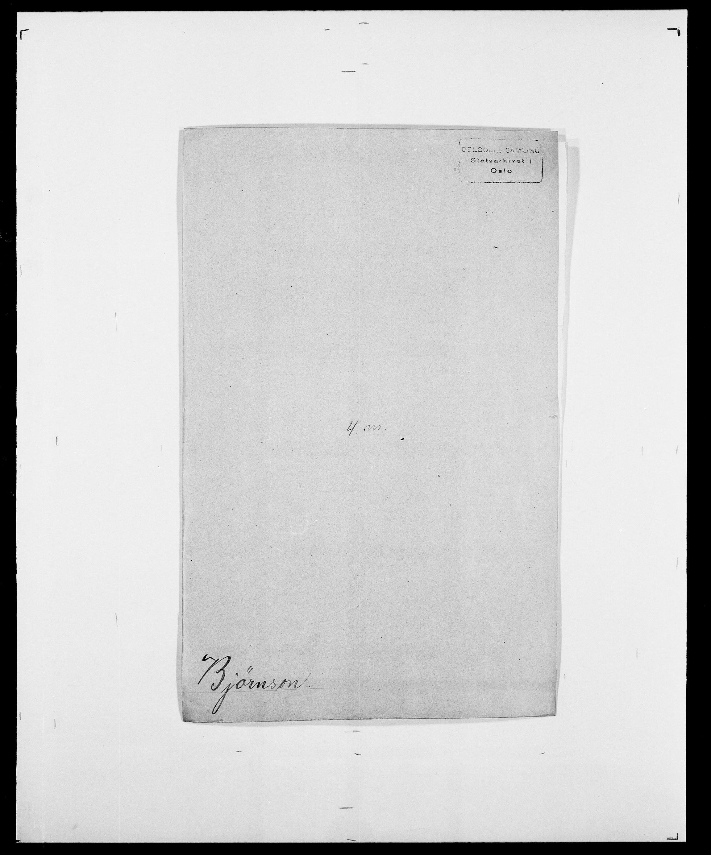 SAO, Delgobe, Charles Antoine - samling, D/Da/L0004: Bergendahl - Blære, s. 478