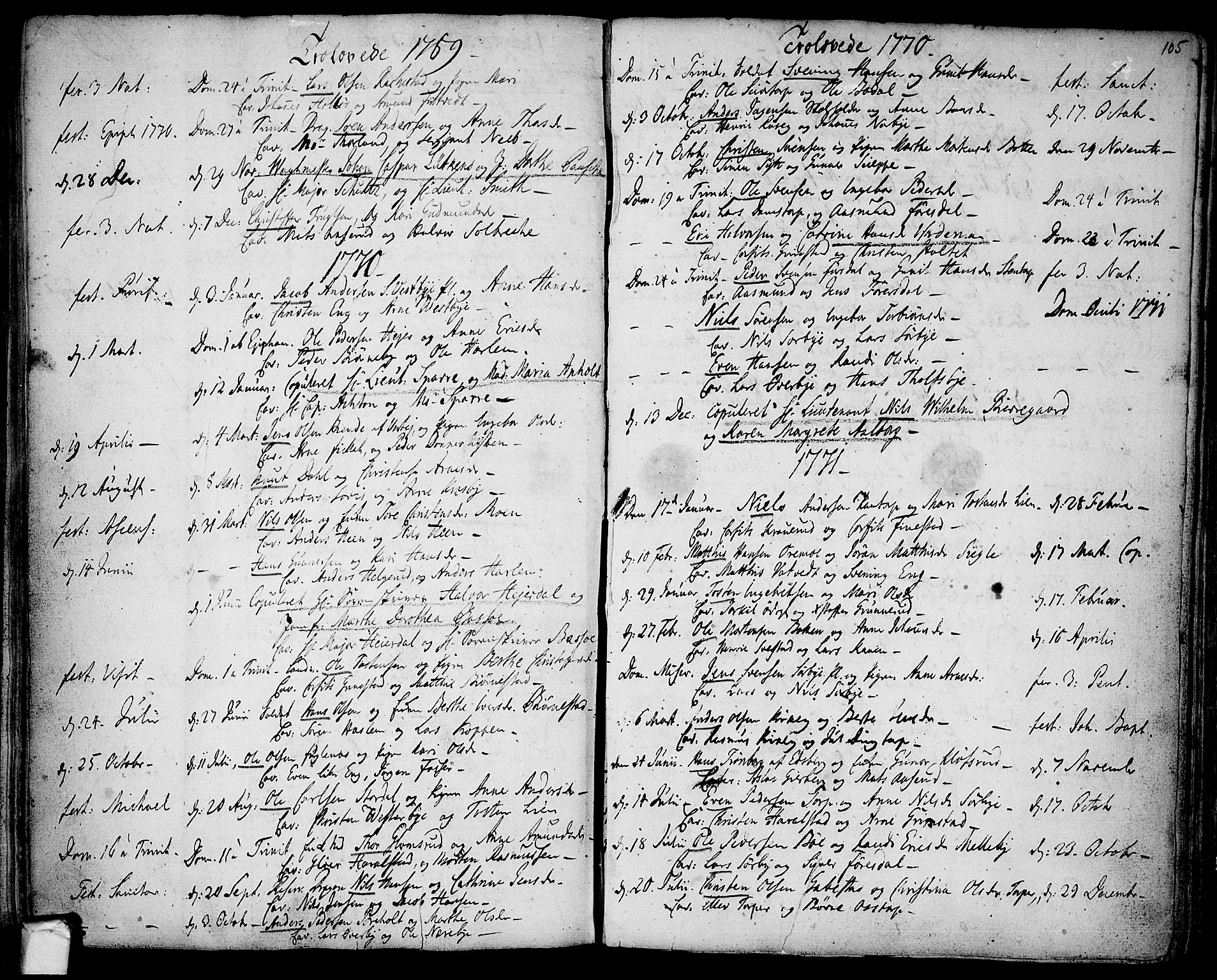 SAO, Rakkestad prestekontor Kirkebøker, F/Fa/L0003: Ministerialbok nr. I 3, 1752-1777, s. 105