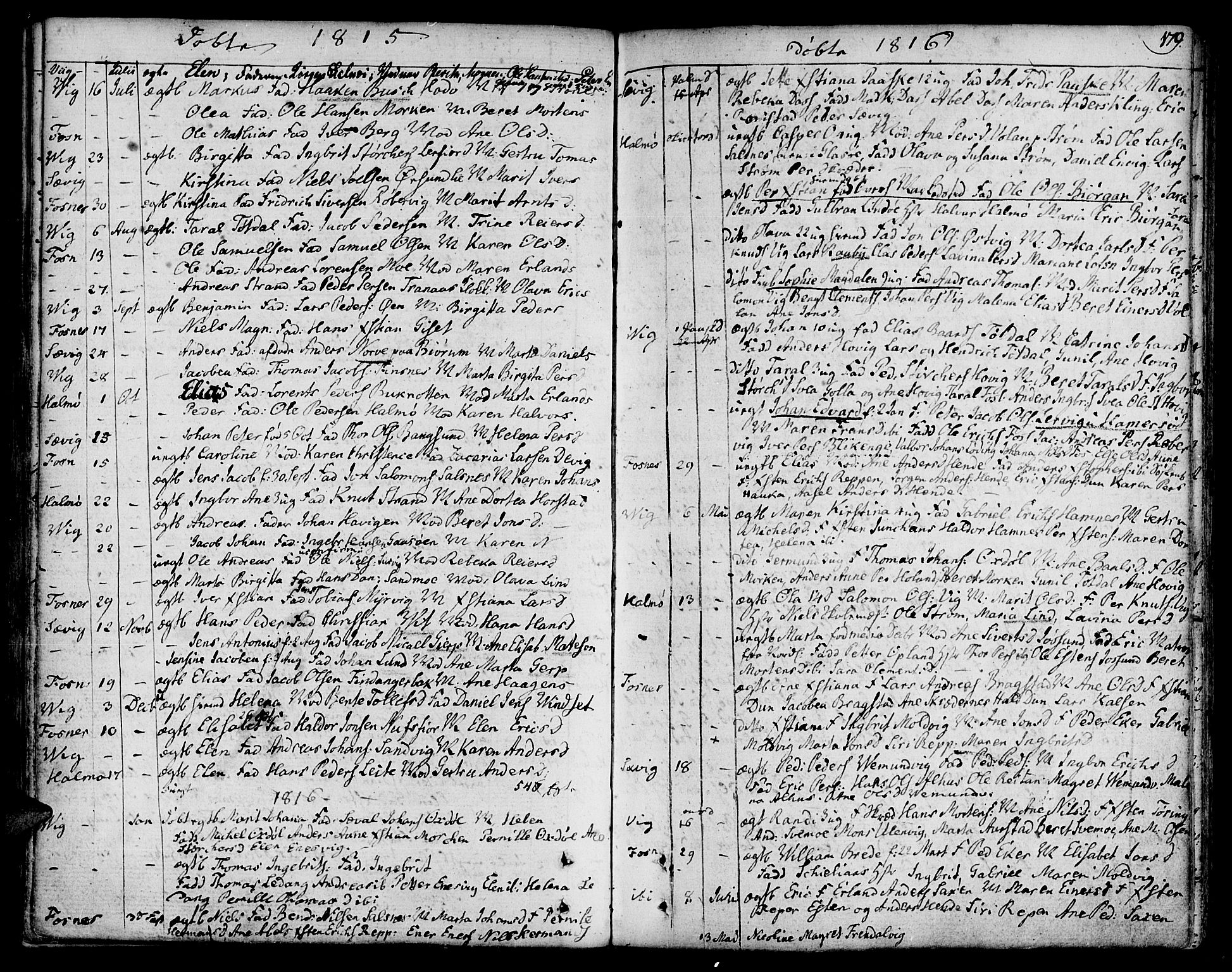 SAT, Ministerialprotokoller, klokkerbøker og fødselsregistre - Nord-Trøndelag, 773/L0608: Ministerialbok nr. 773A02, 1784-1816, s. 179