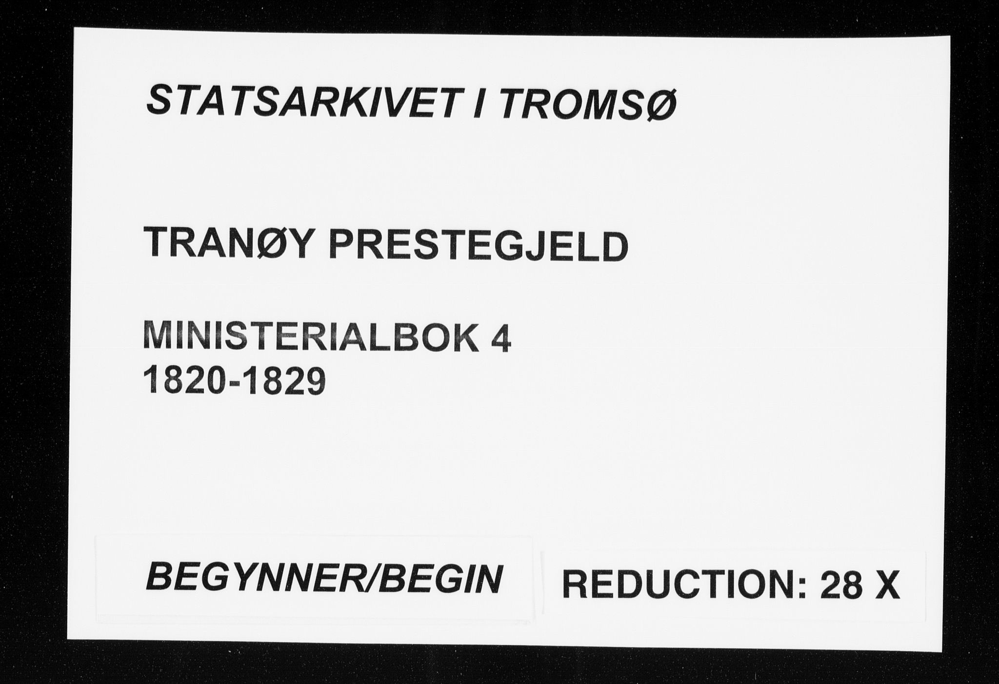 SATØ, Tranøy sokneprestkontor, I/Ia/Iaa/L0004kirke: Ministerialbok nr. 4, 1820-1829