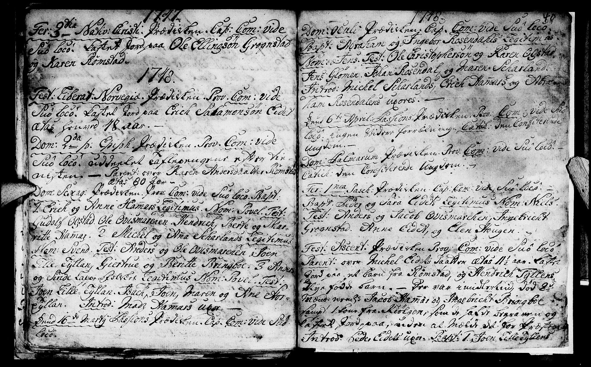 SAT, Ministerialprotokoller, klokkerbøker og fødselsregistre - Nord-Trøndelag, 765/L0560: Ministerialbok nr. 765A01, 1706-1748, s. 40