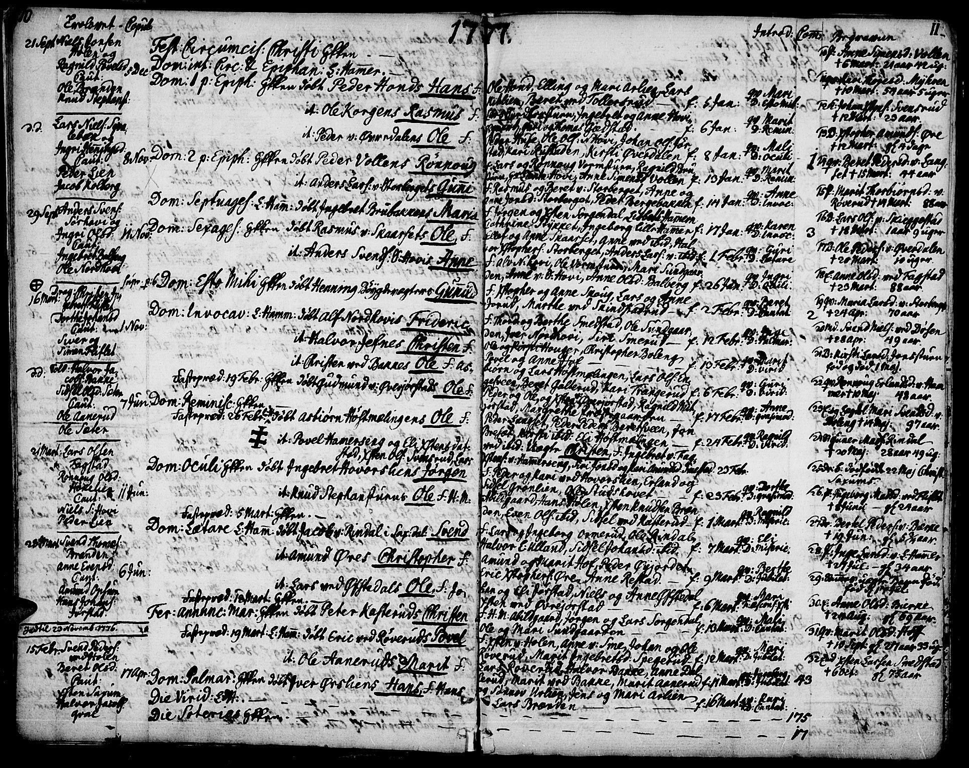 SAH, Fåberg prestekontor, Ministerialbok nr. 2, 1775-1818, s. 10-11