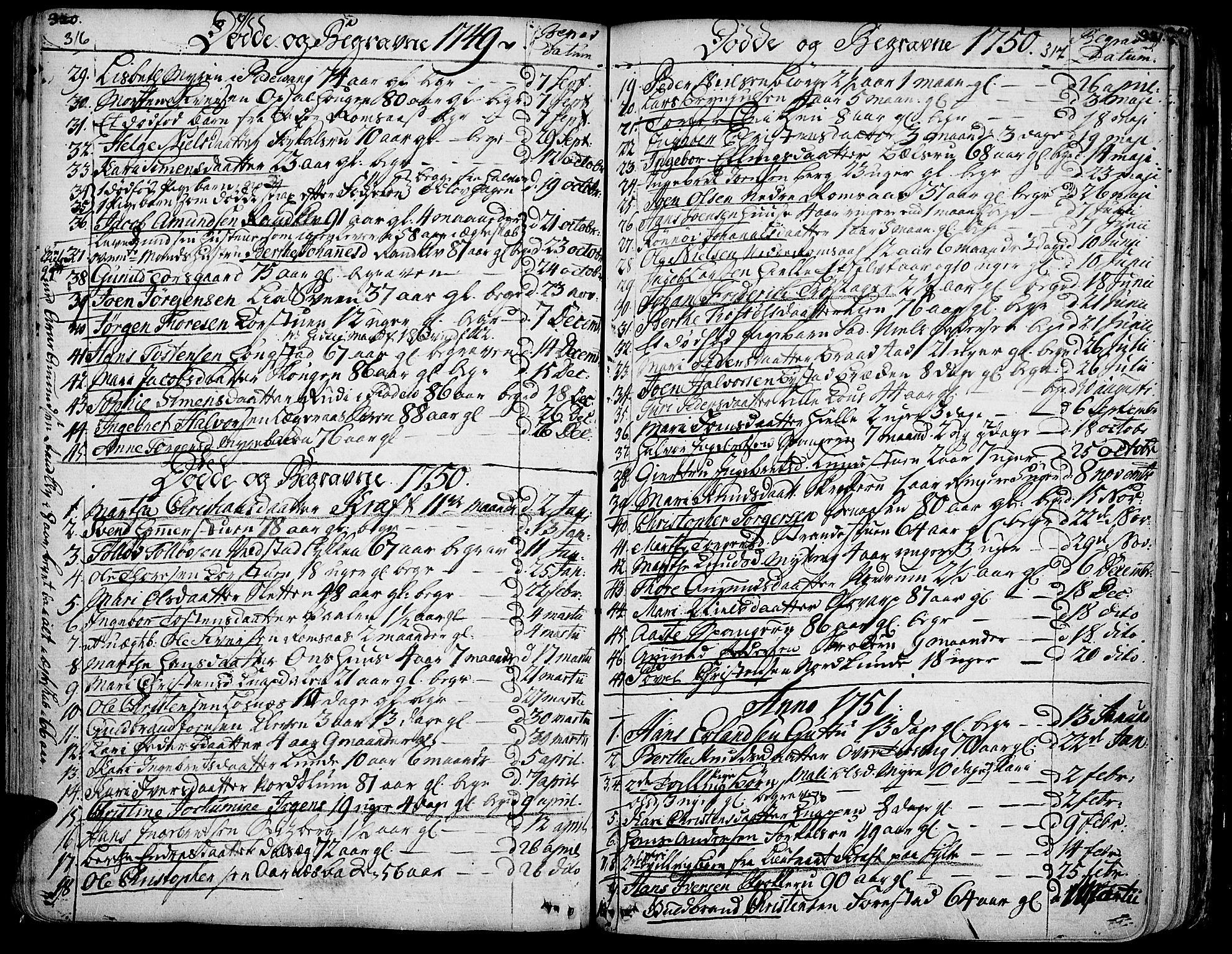 SAH, Ringebu prestekontor, Ministerialbok nr. 2, 1734-1780, s. 316-317