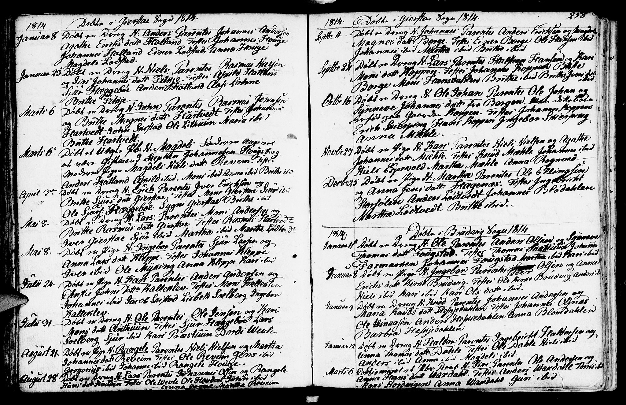 SAB, Haus sokneprestembete, H/Haa: Ministerialbok nr. A 11, 1796-1816, s. 258