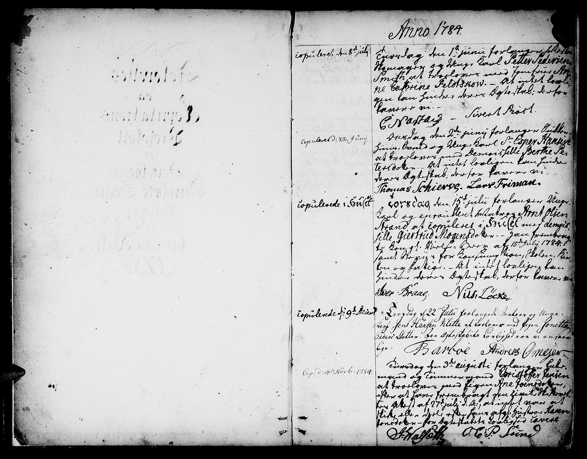 SAT, Ministerialprotokoller, klokkerbøker og fødselsregistre - Sør-Trøndelag, 601/L0041: Ministerialbok nr. 601A09, 1784-1801, s. 2