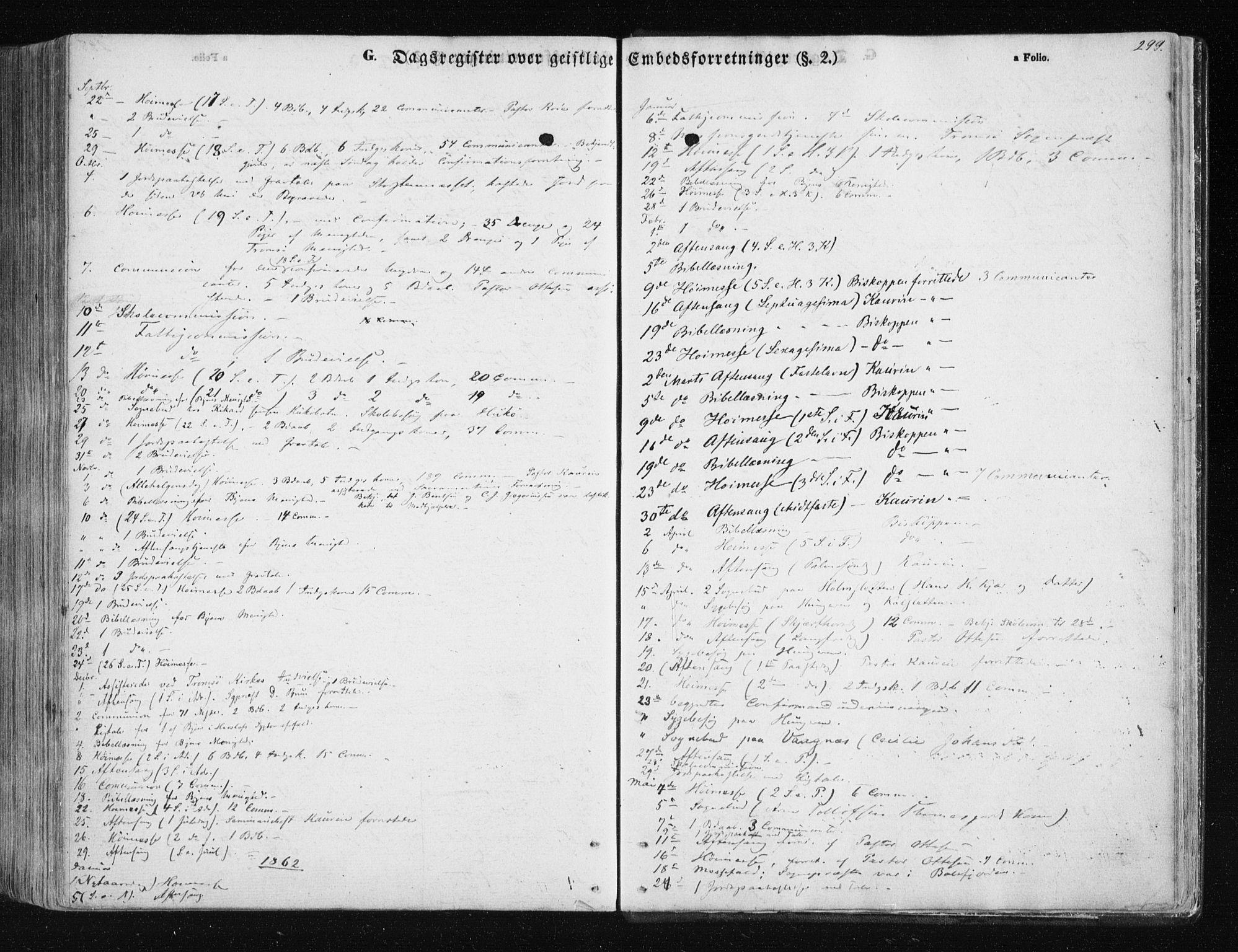 SATØ, Tromsøysund sokneprestkontor, G/Ga/L0001kirke: Ministerialbok nr. 1, 1856-1867, s. 299
