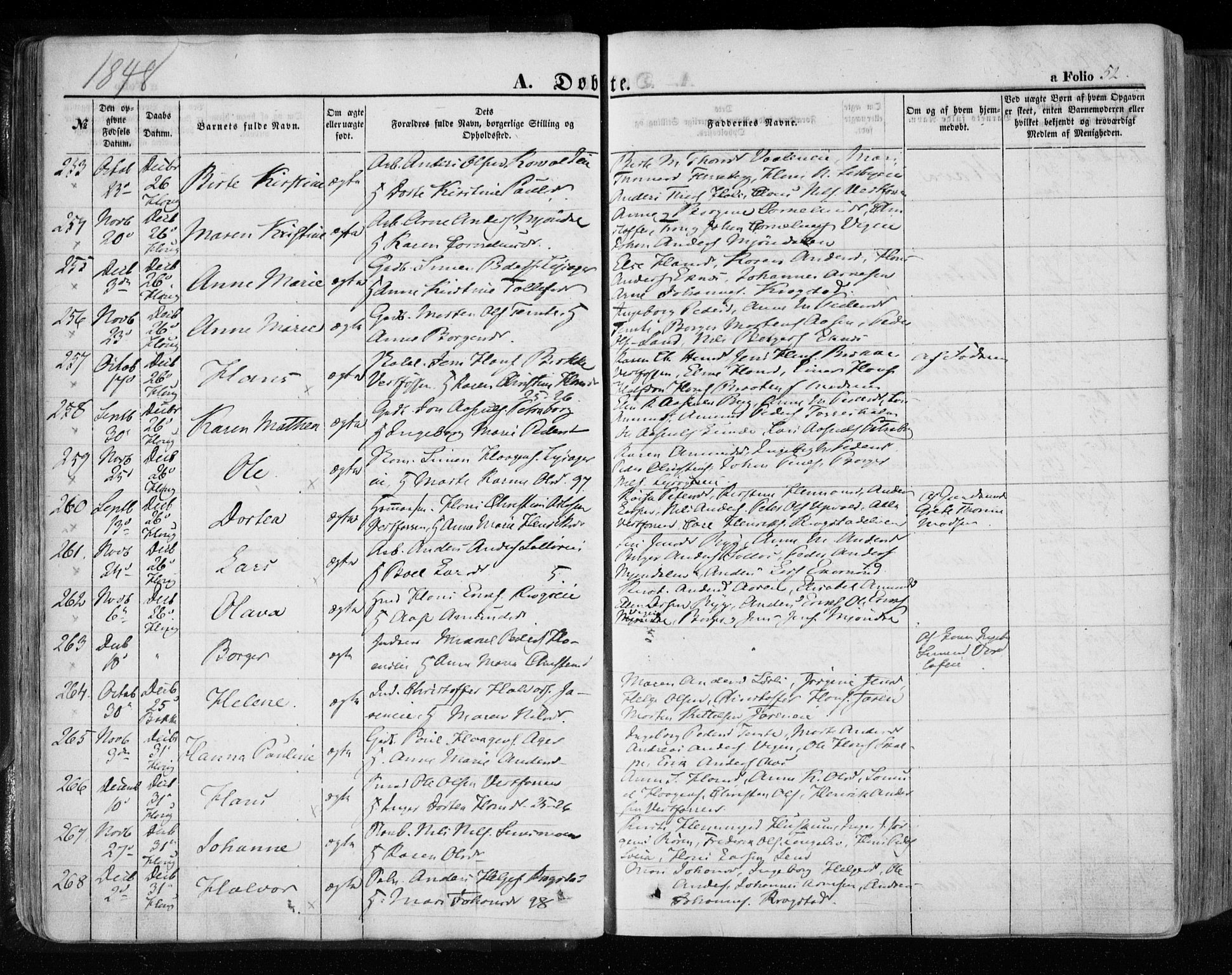 SAKO, Eiker kirkebøker, F/Fa/L0014: Ministerialbok nr. I 14, 1846-1854, s. 52