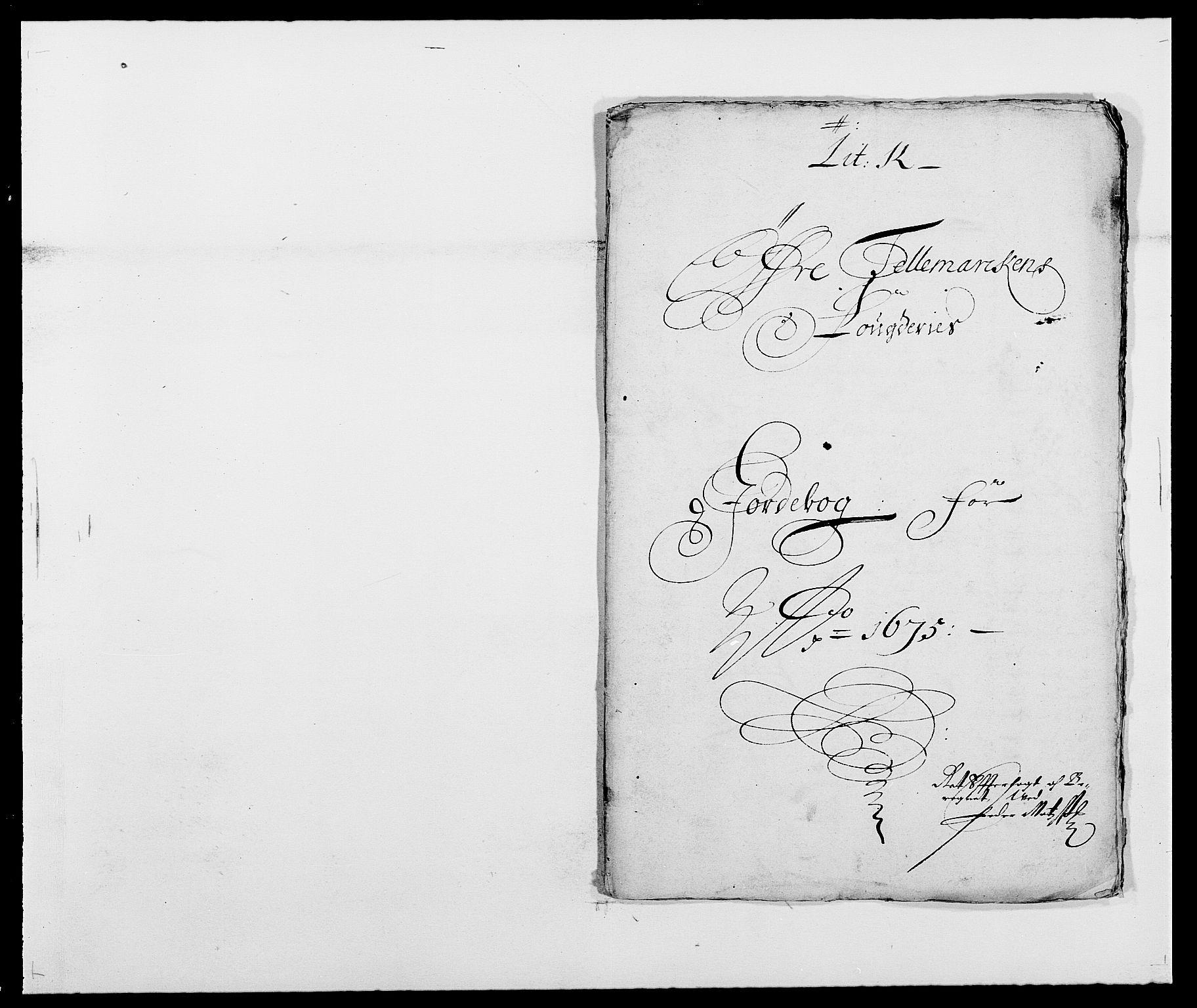 RA, Rentekammeret inntil 1814, Reviderte regnskaper, Fogderegnskap, R35/L2063: Fogderegnskap Øvre og Nedre Telemark, 1675, s. 296