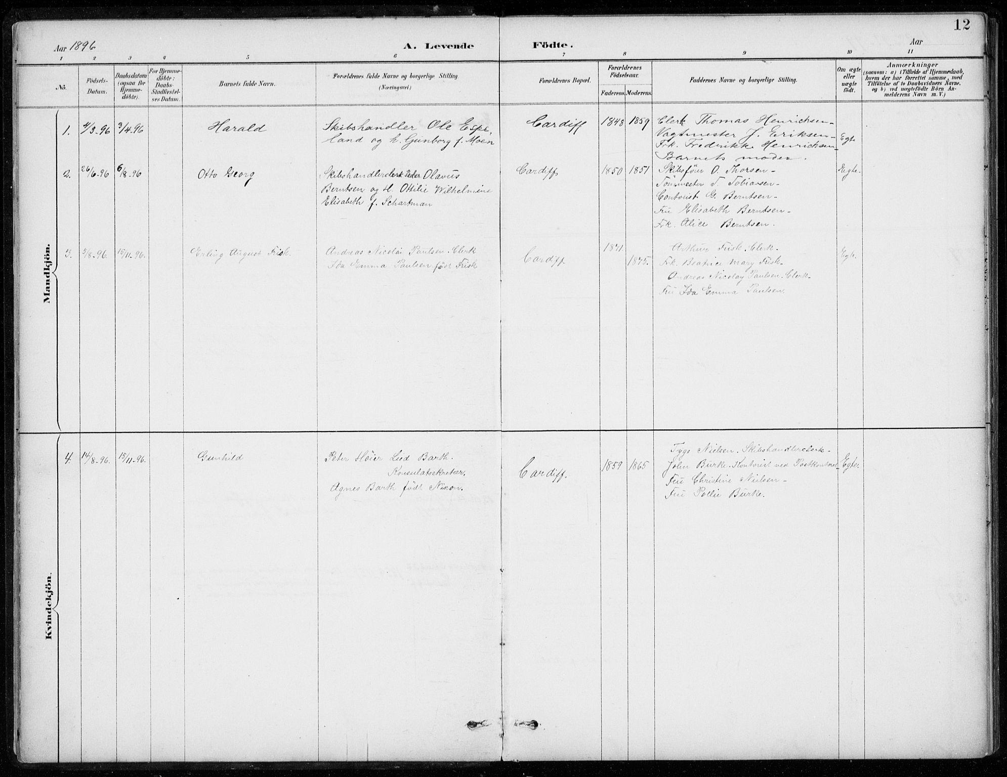 SAB, Den Norske Sjømannsmisjon i utlandet*, Ministerialbok nr. A 2, 1887-1932, s. 12