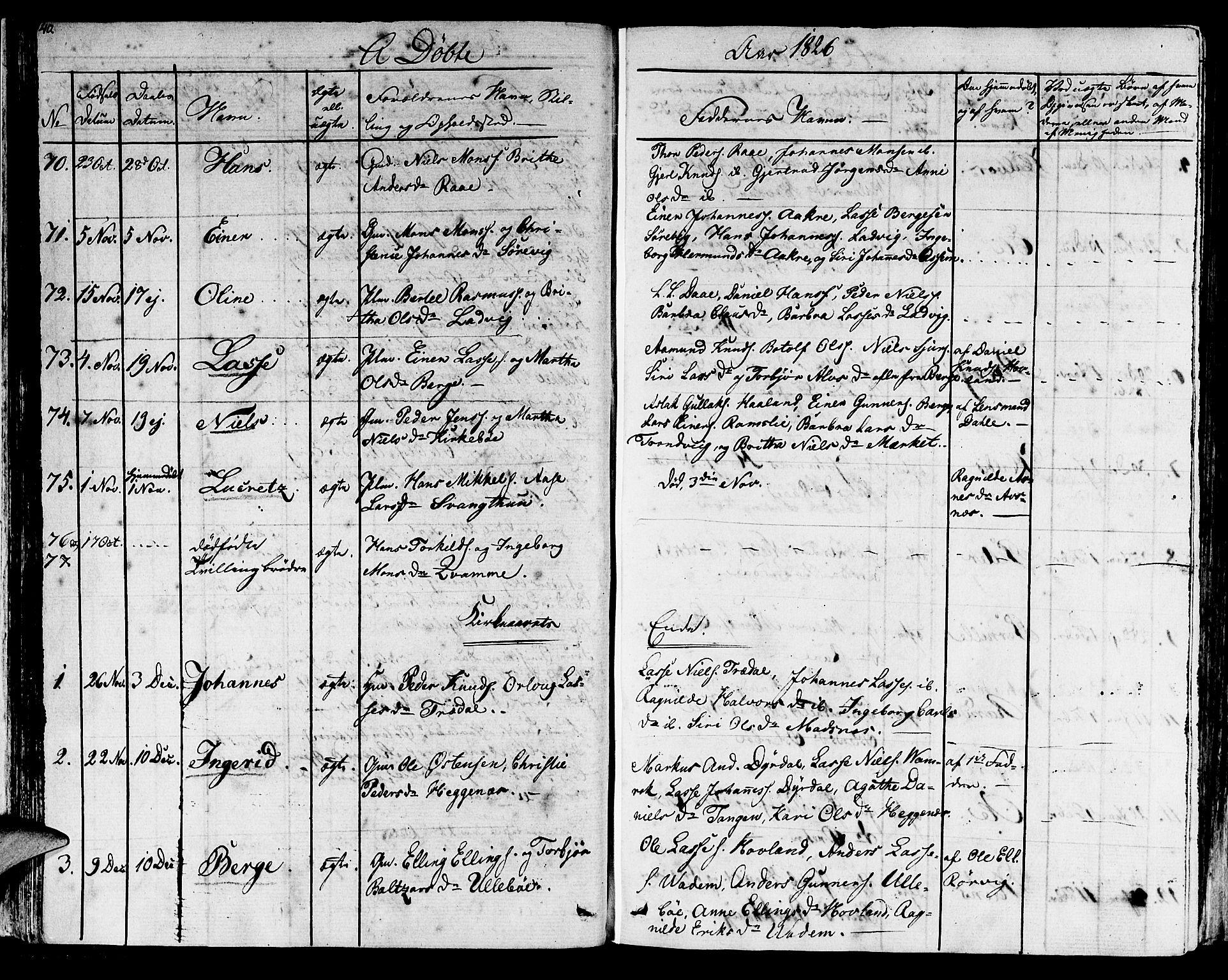 SAB, Lavik sokneprestembete, Ministerialbok nr. A 2I, 1821-1842, s. 40
