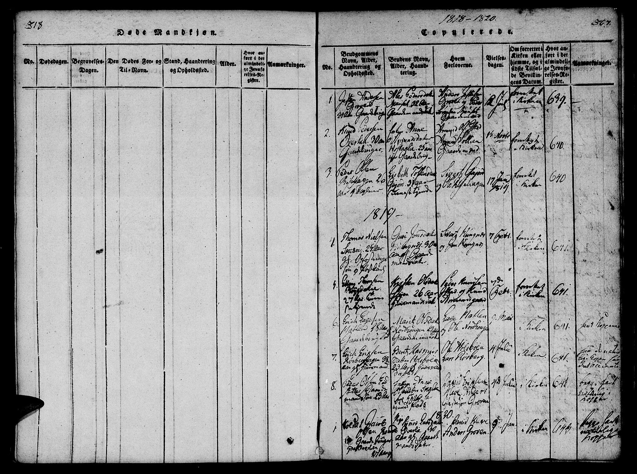 SAT, Ministerialprotokoller, klokkerbøker og fødselsregistre - Møre og Romsdal, 557/L0679: Ministerialbok nr. 557A01, 1818-1843, s. 366-367