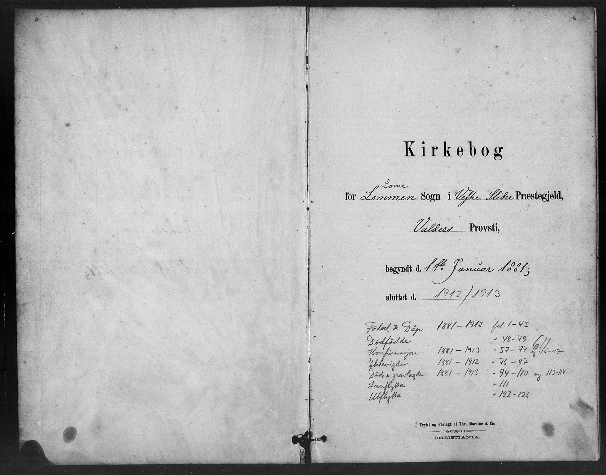 SAH, Vestre Slidre prestekontor, Klokkerbok nr. 6, 1881-1915