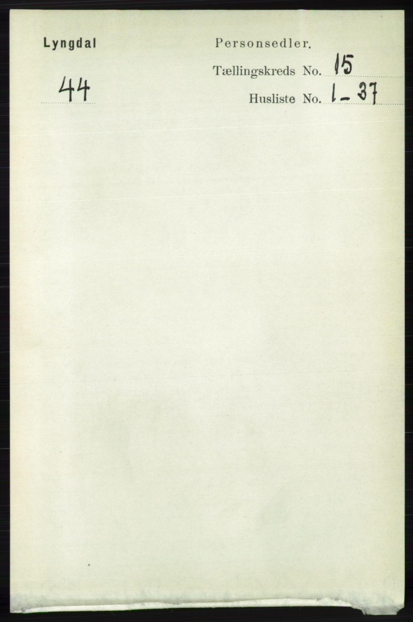 RA, Folketelling 1891 for 1032 Lyngdal herred, 1891, s. 6059