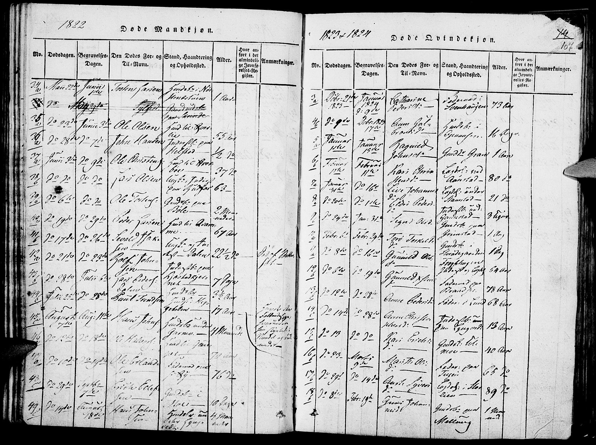 SAH, Lom prestekontor, K/L0004: Ministerialbok nr. 4, 1815-1825, s. 107