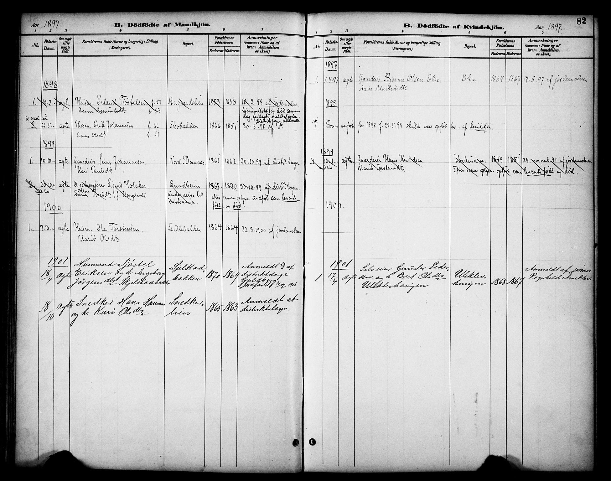 SAH, Dovre prestekontor, Ministerialbok nr. 3, 1891-1901, s. 82