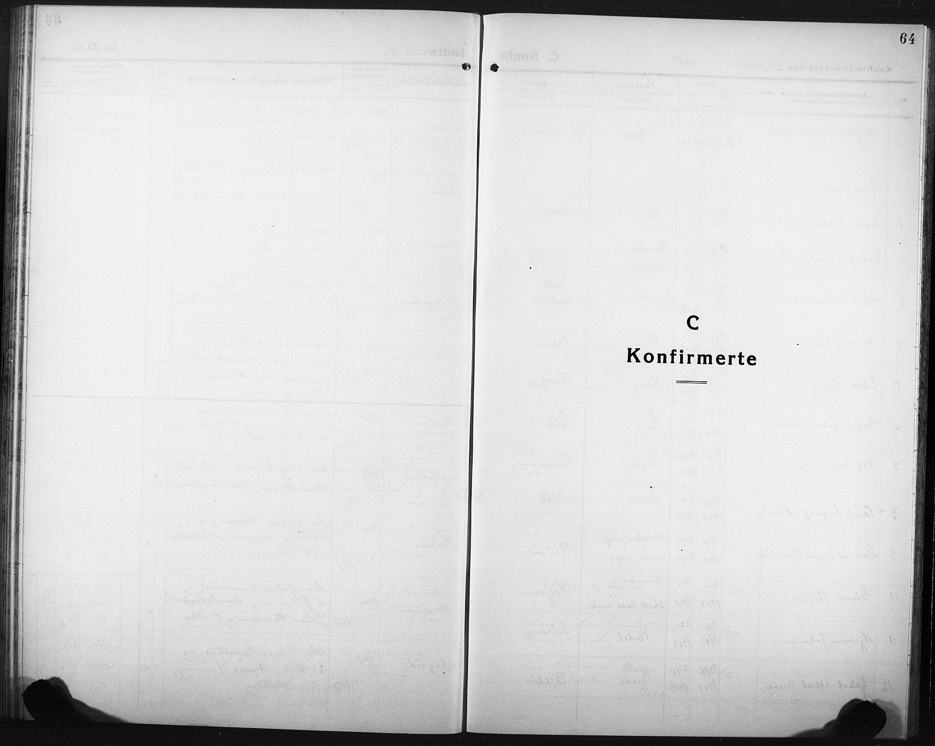 SAT, Ministerialprotokoller, klokkerbøker og fødselsregistre - Nord-Trøndelag, 749/L0480: Klokkerbok nr. 749C02, 1924-1932, s. 64