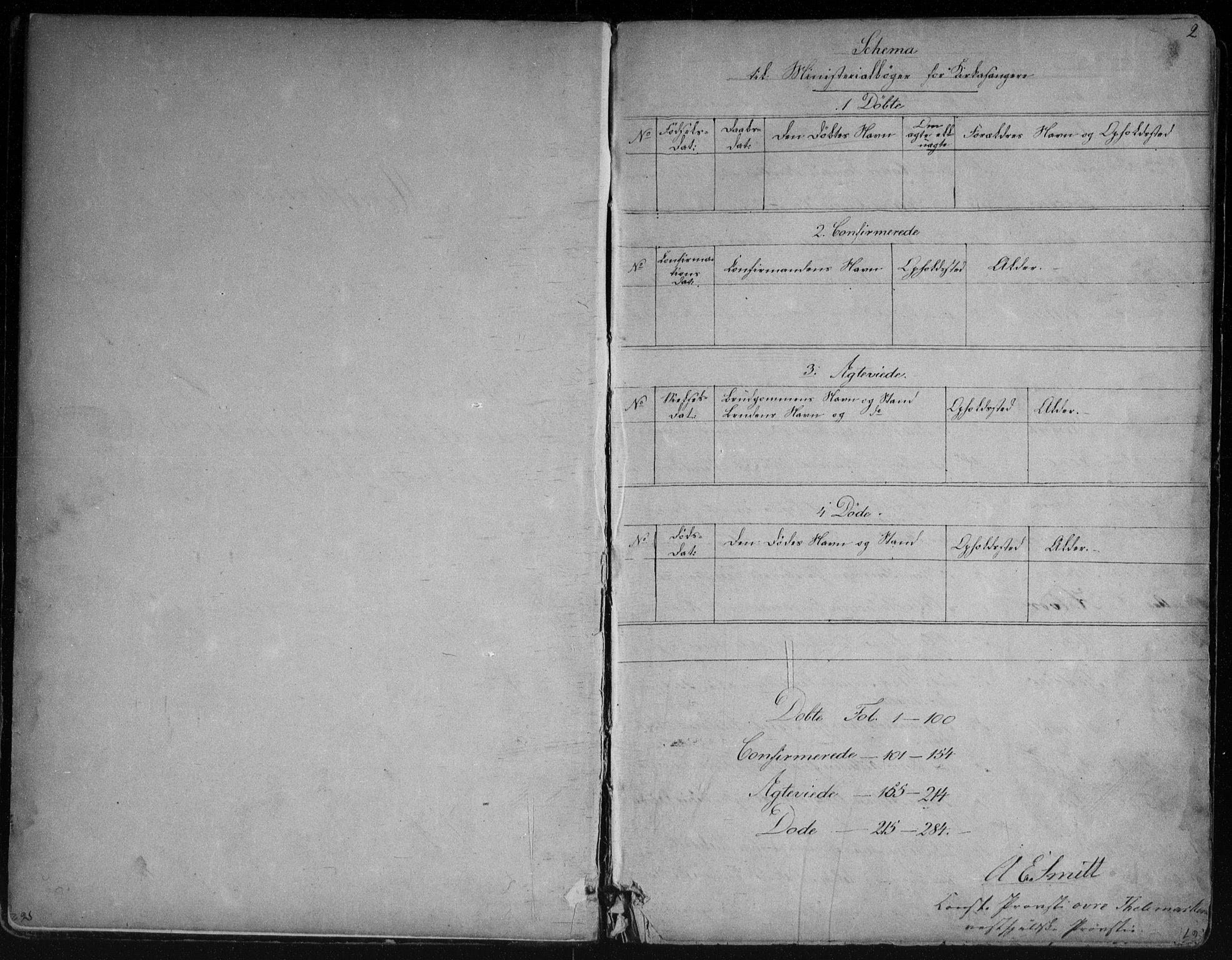 SAKO, Vinje kirkebøker, G/Ga/L0002: Klokkerbok nr. I 2, 1849-1893, s. 2