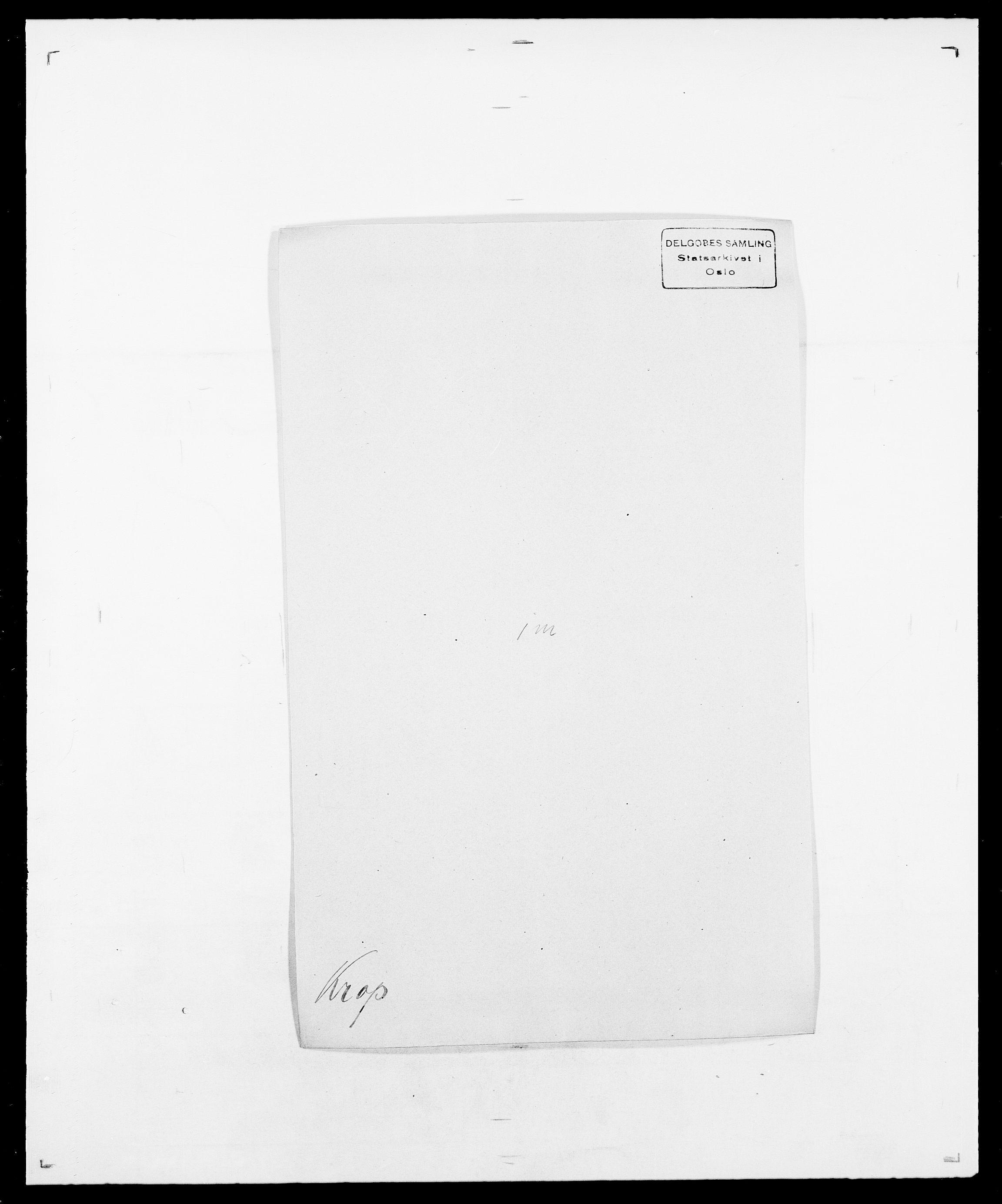SAO, Delgobe, Charles Antoine - samling, D/Da/L0022: Krog - Lasteen, s. 97