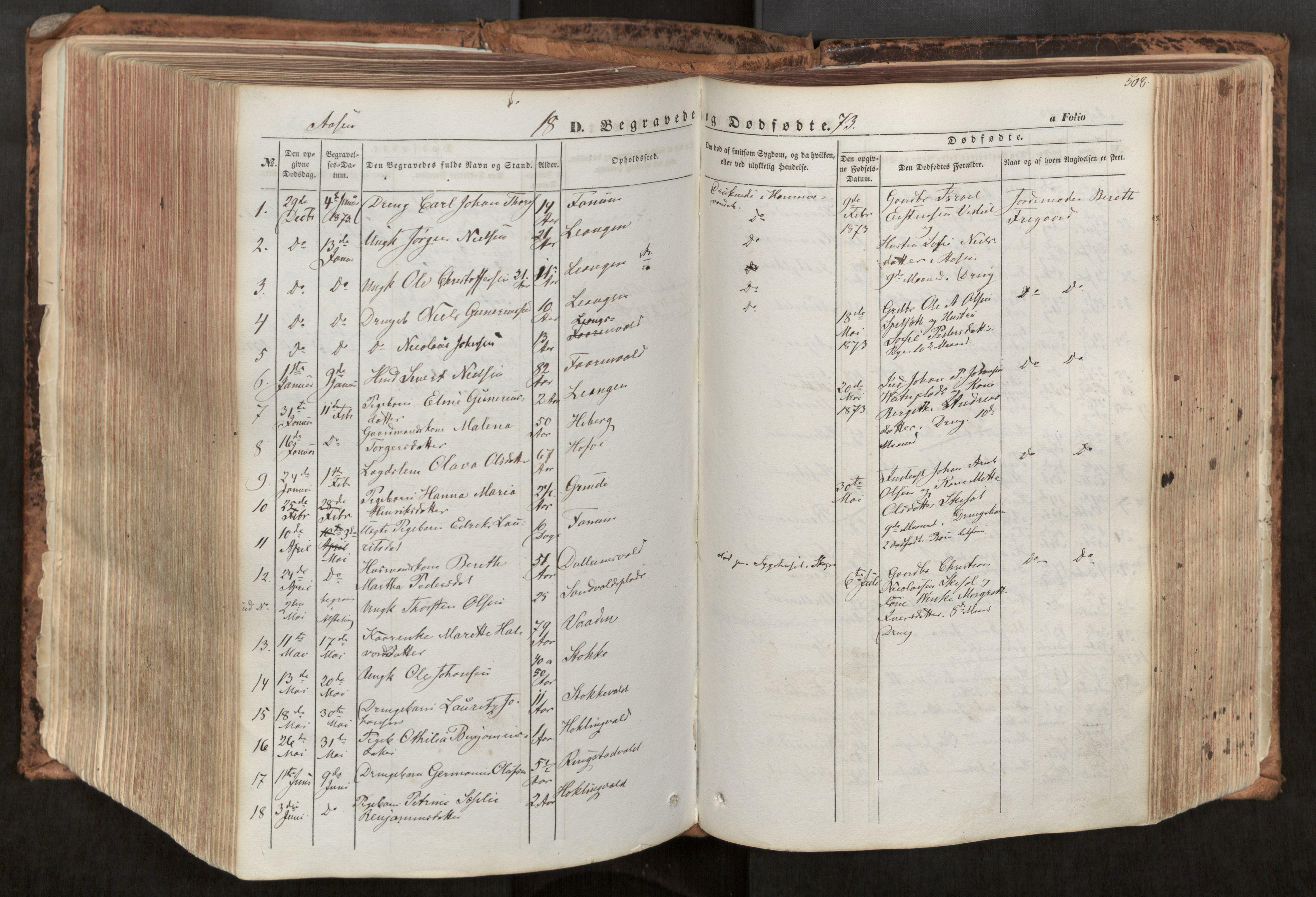 SAT, Ministerialprotokoller, klokkerbøker og fødselsregistre - Nord-Trøndelag, 713/L0116: Ministerialbok nr. 713A07, 1850-1877, s. 508