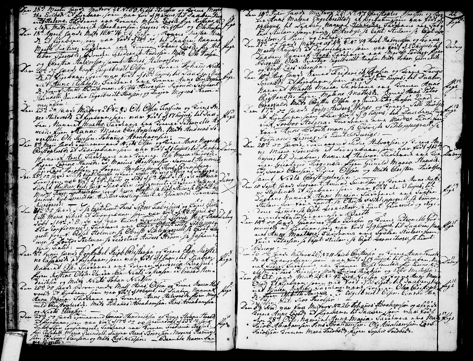 SAKO, Stavern kirkebøker, F/Fa/L0002: Ministerialbok nr. 2, 1783-1809, s. 22