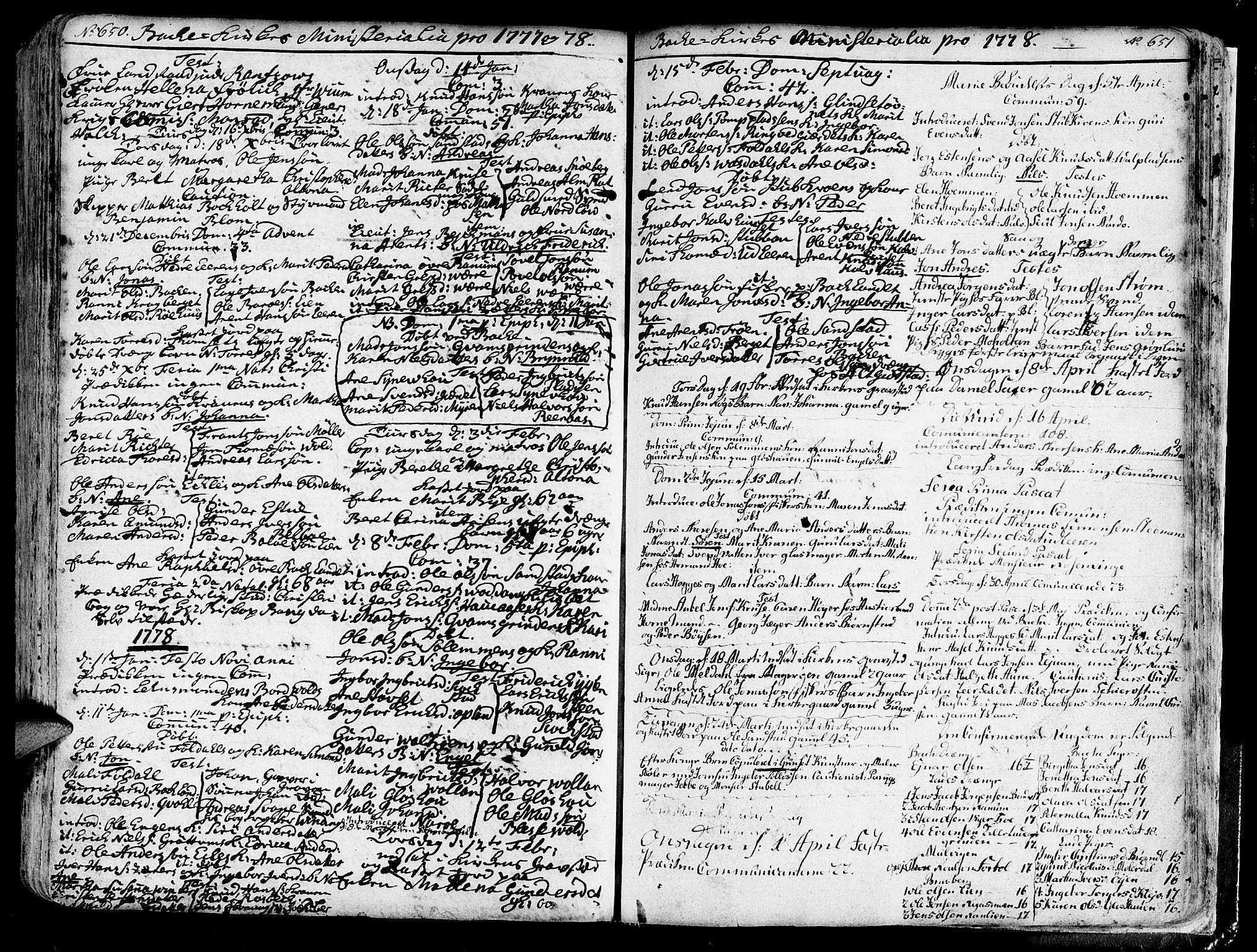 SAT, Ministerialprotokoller, klokkerbøker og fødselsregistre - Sør-Trøndelag, 606/L0276: Ministerialbok nr. 606A01 /2, 1727-1779, s. 650-651