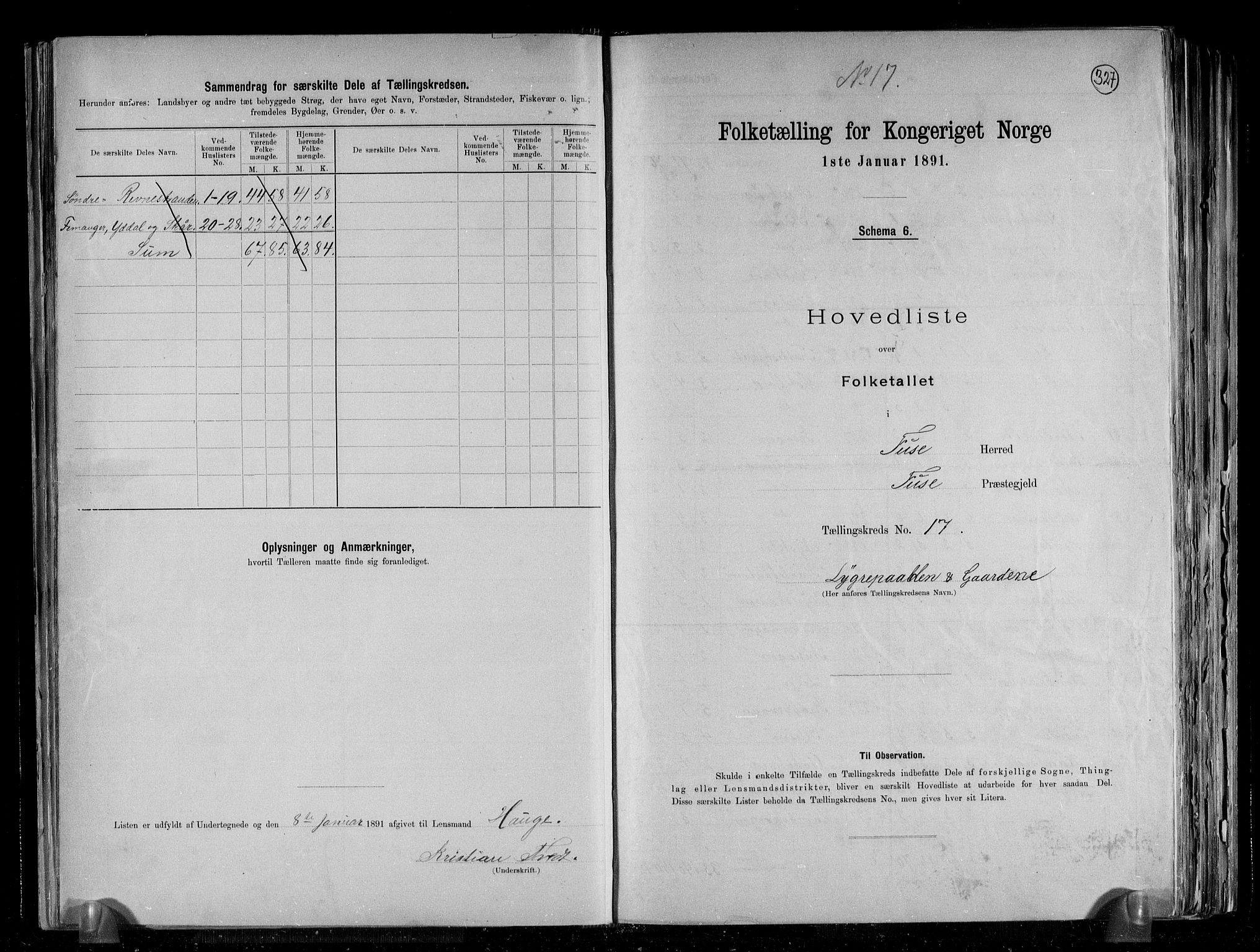 RA, Folketelling 1891 for 1241 Fusa herred, 1891, s. 36
