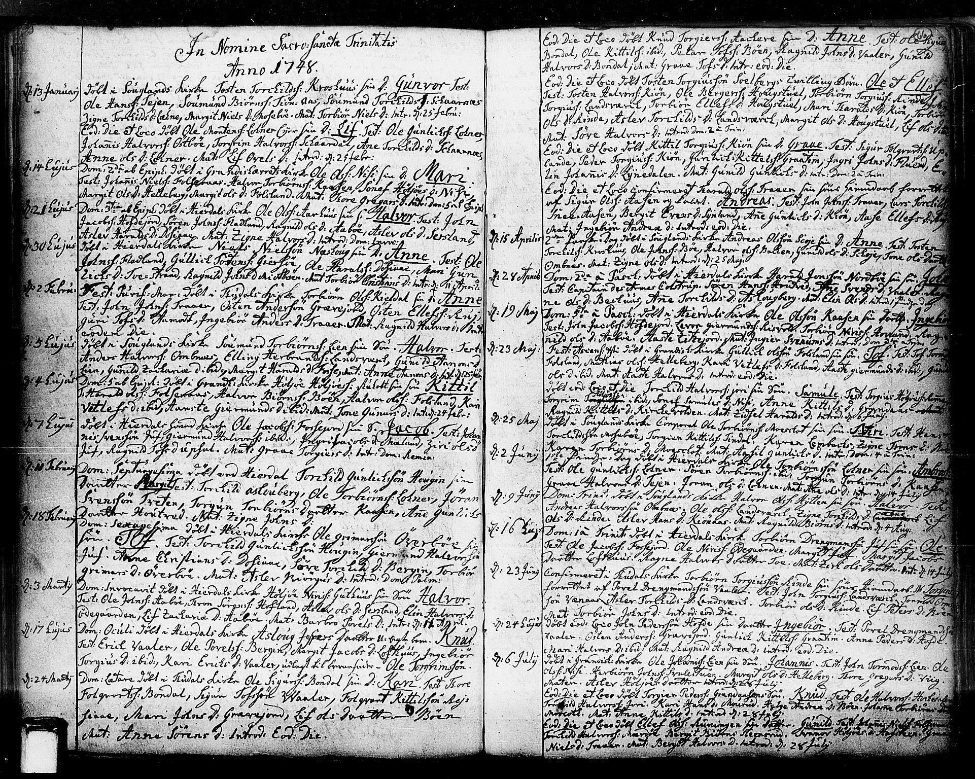 SAKO, Hjartdal kirkebøker, F/Fa/L0003: Ministerialbok nr. I 3, 1727-1775, s. 66