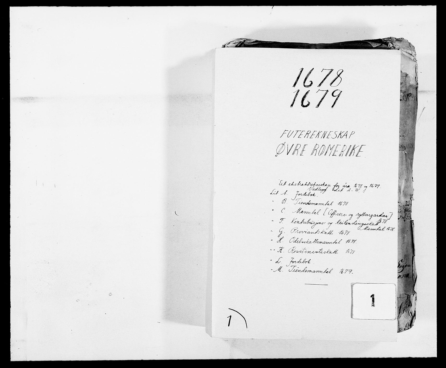 RA, Rentekammeret inntil 1814, Reviderte regnskaper, Fogderegnskap, R12/L0693: Fogderegnskap Øvre Romerike, 1678-1679, s. 1