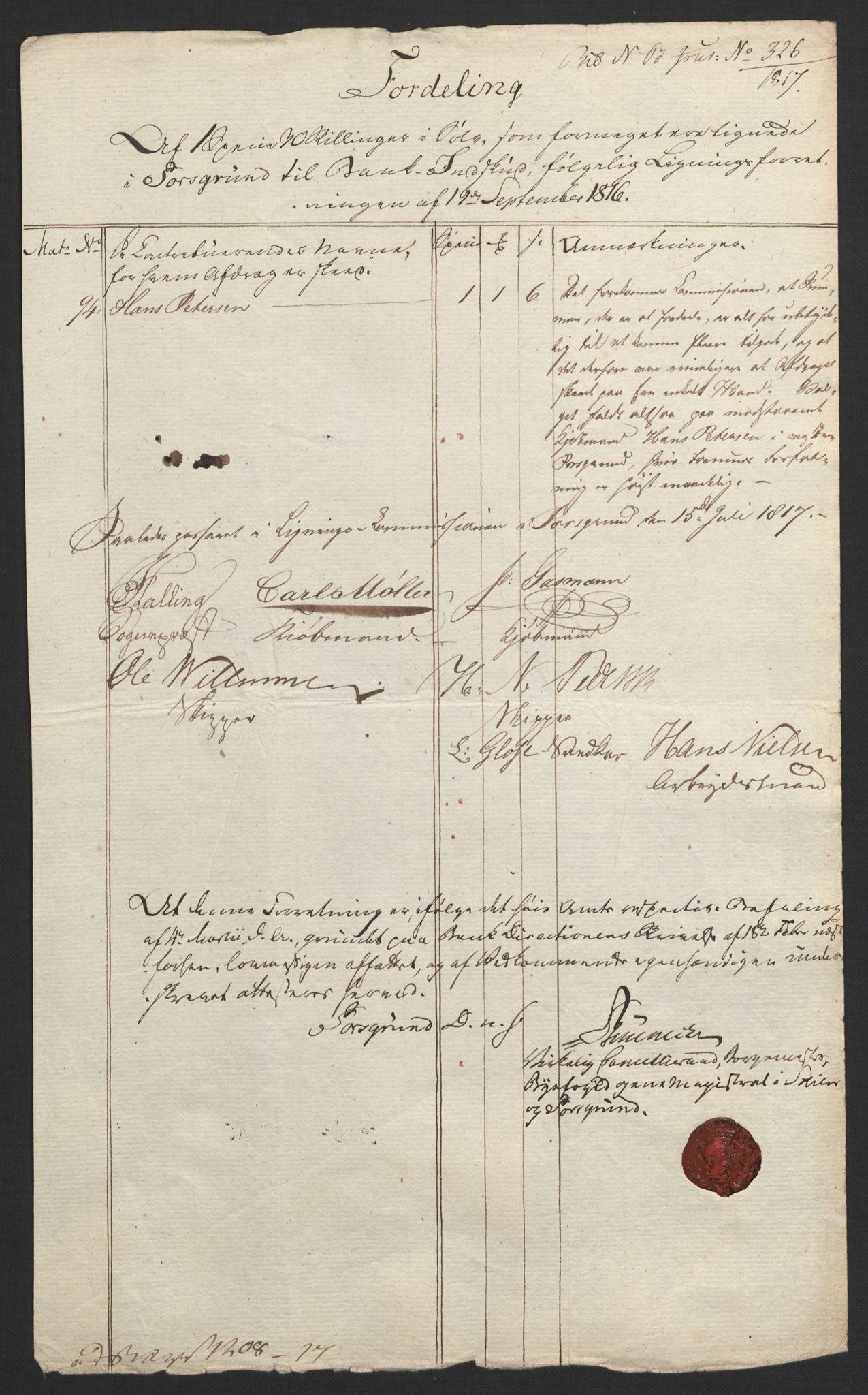 NOBA, Norges Bank/Sølvskatten 1816*, 1816-1823, s. 14