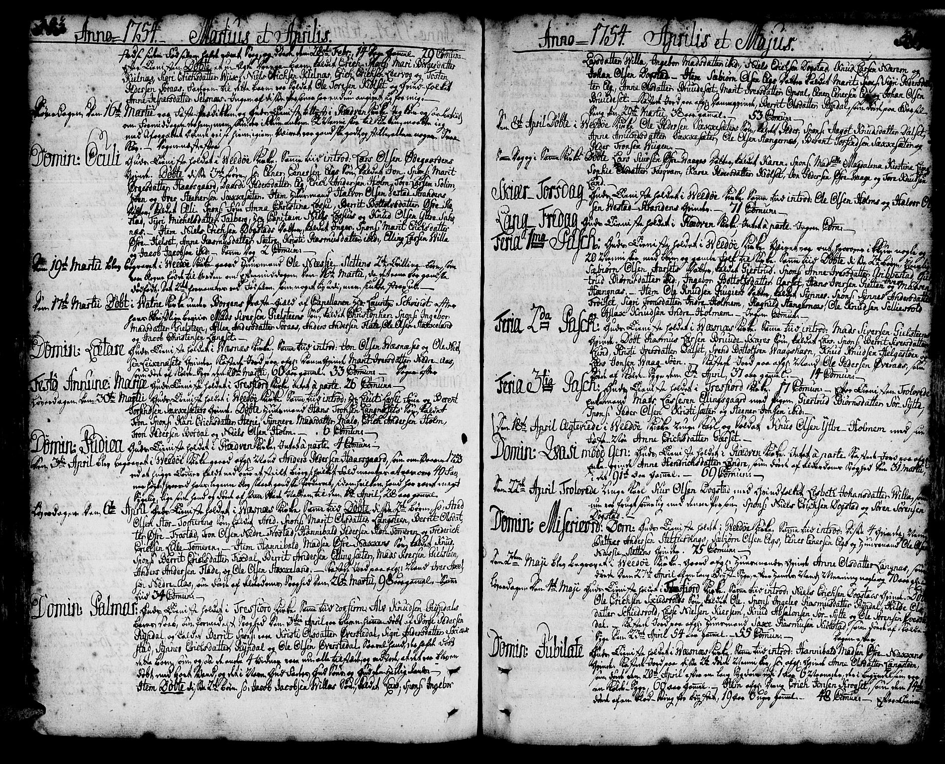SAT, Ministerialprotokoller, klokkerbøker og fødselsregistre - Møre og Romsdal, 547/L0599: Ministerialbok nr. 547A01, 1721-1764, s. 383-384
