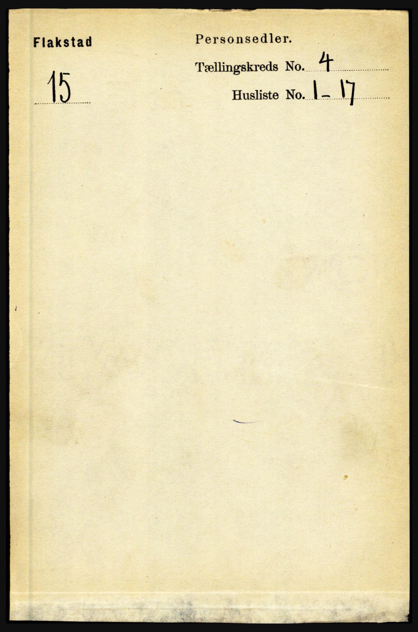 RA, Folketelling 1891 for 1859 Flakstad herred, 1891, s. 1860