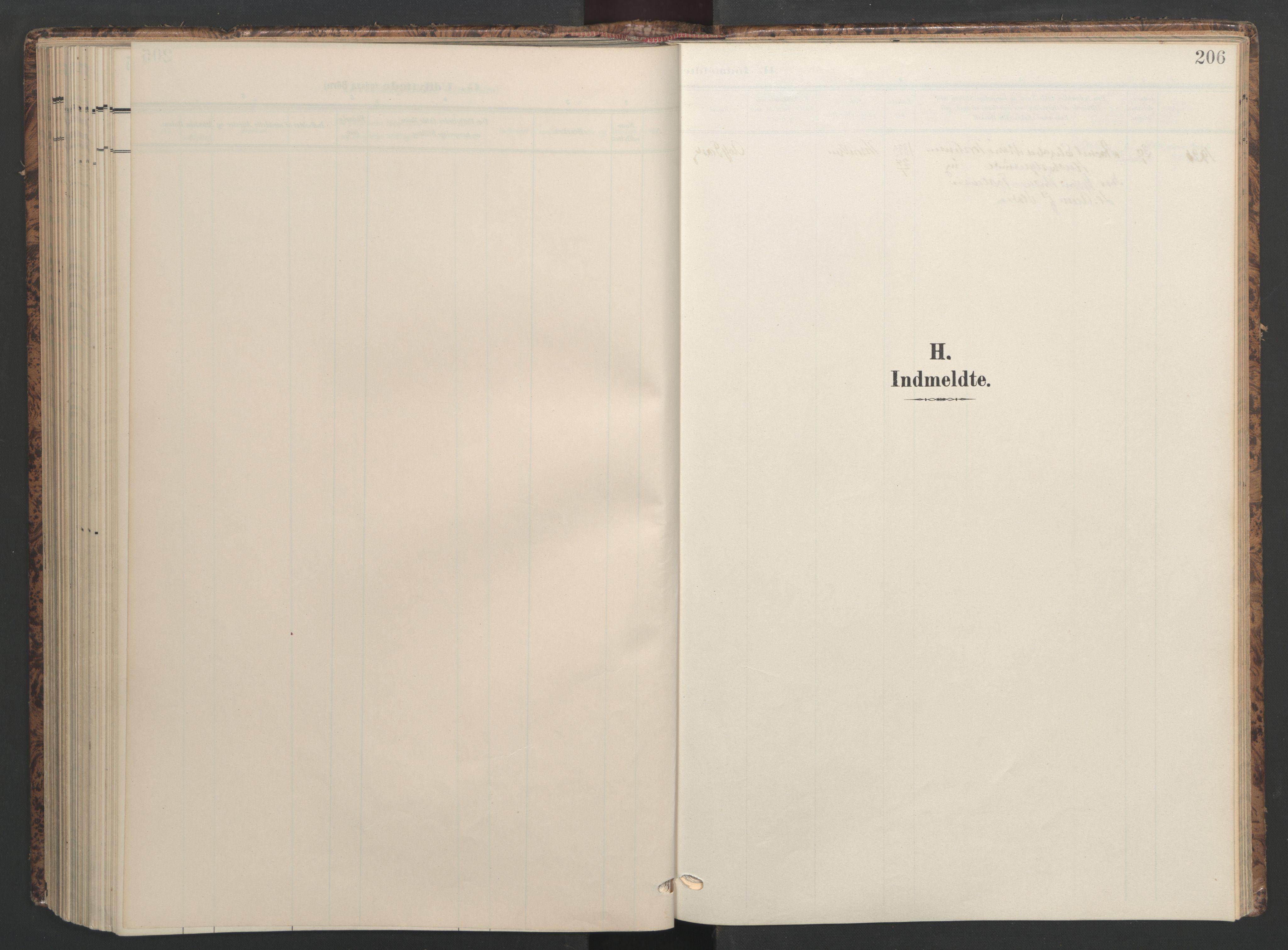SAT, Ministerialprotokoller, klokkerbøker og fødselsregistre - Sør-Trøndelag, 655/L0682: Ministerialbok nr. 655A11, 1908-1922, s. 206