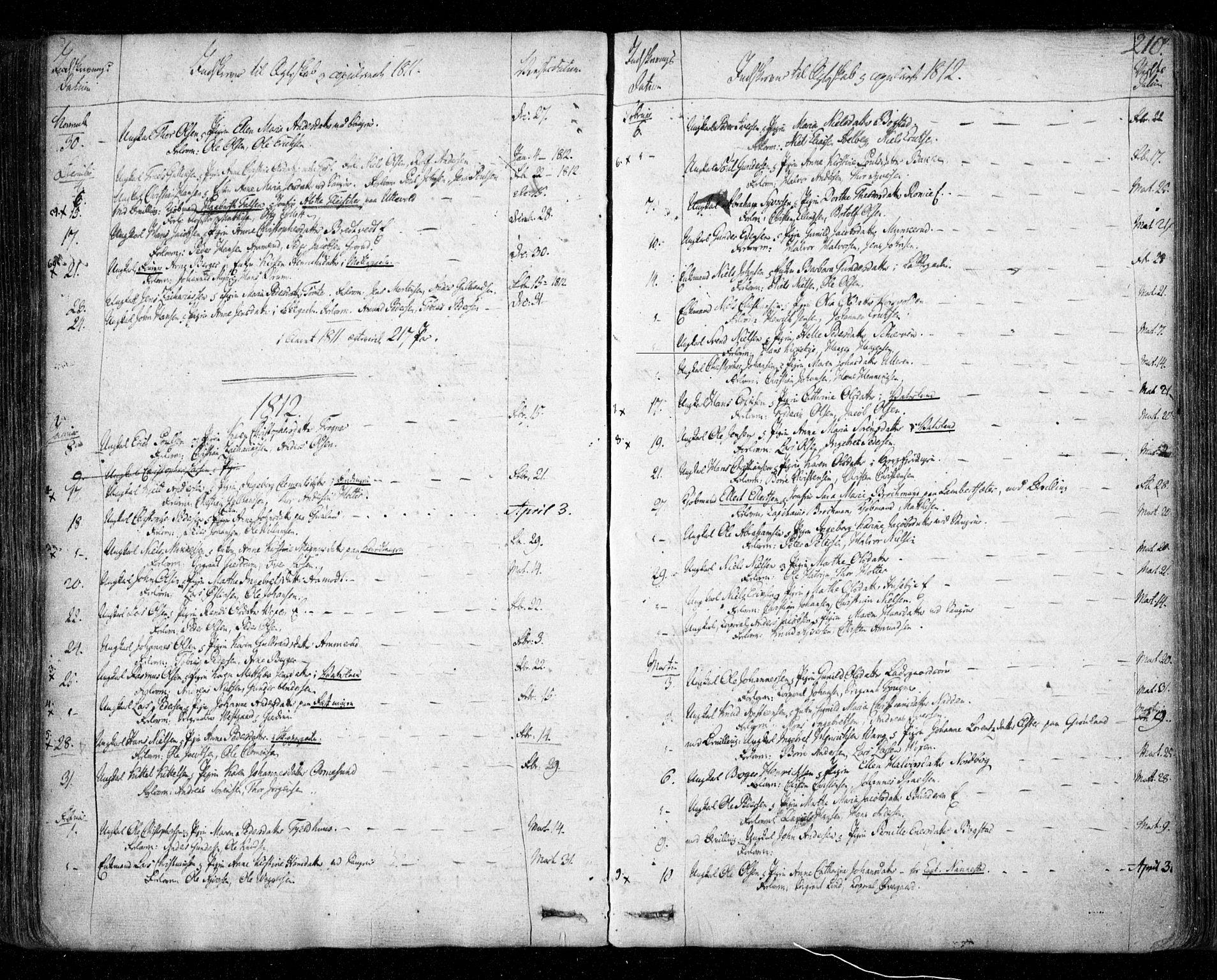 SAO, Aker prestekontor kirkebøker, F/L0011: Ministerialbok nr. 11, 1810-1819, s. 210