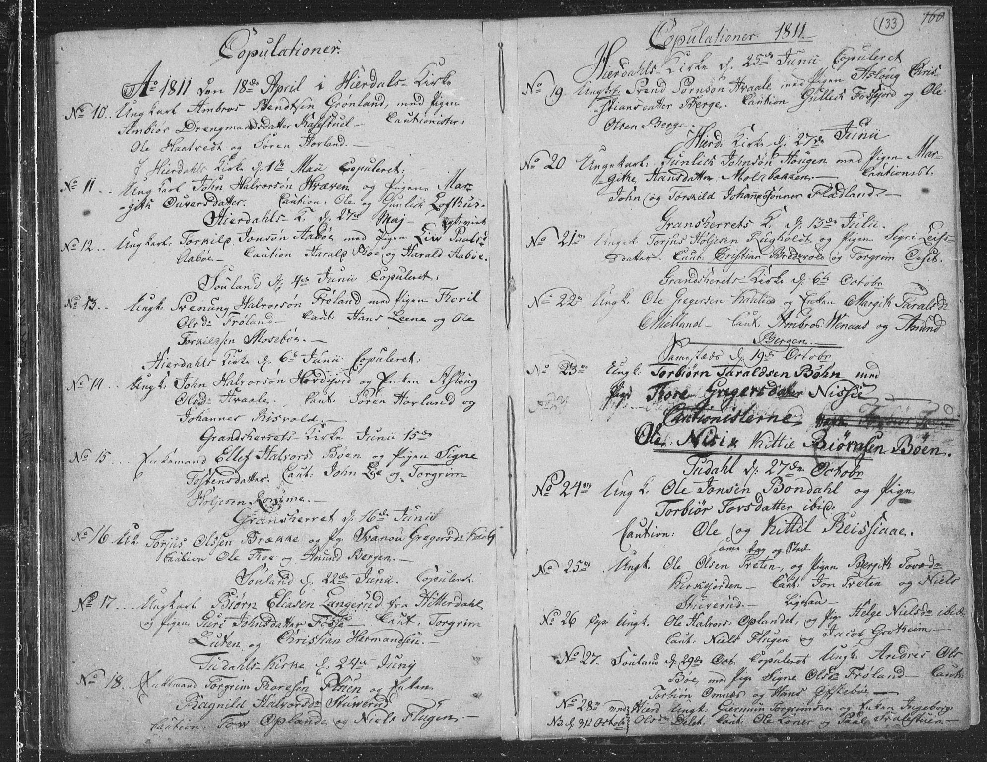 SAKO, Hjartdal kirkebøker, F/Fa/L0006: Ministerialbok nr. I 6, 1801-1814, s. 133