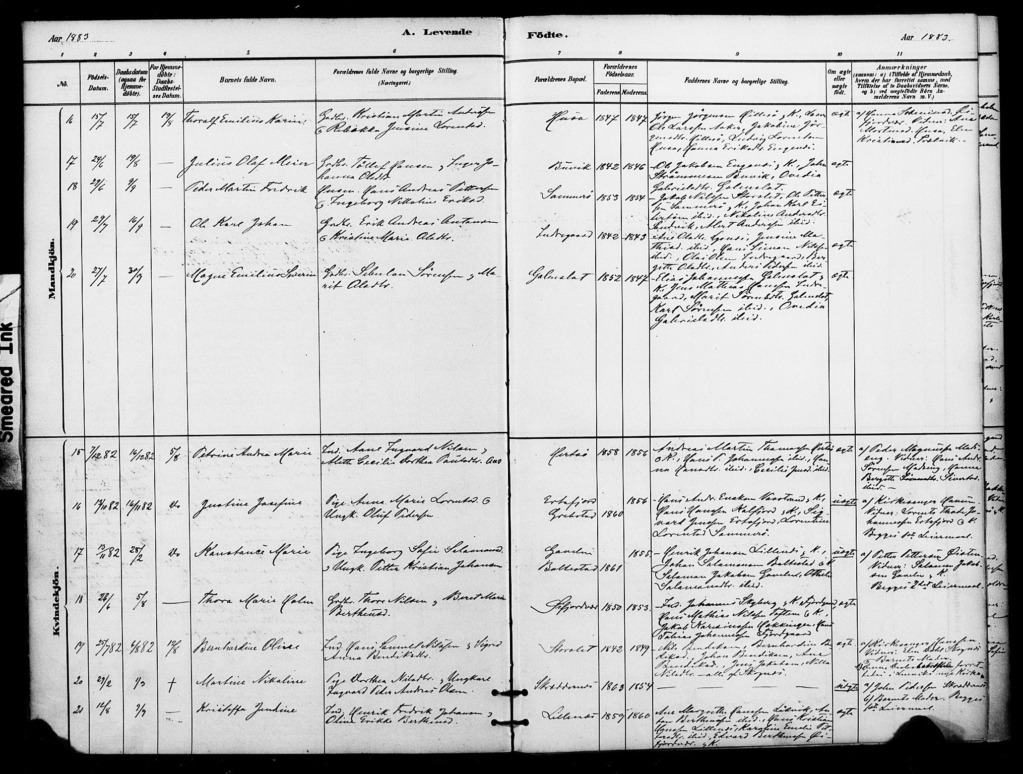 SATØ, Lenvik sokneprestembete, H/Ha/Haa/L0012kirke: Ministerialbok nr. 12, 1880-1895