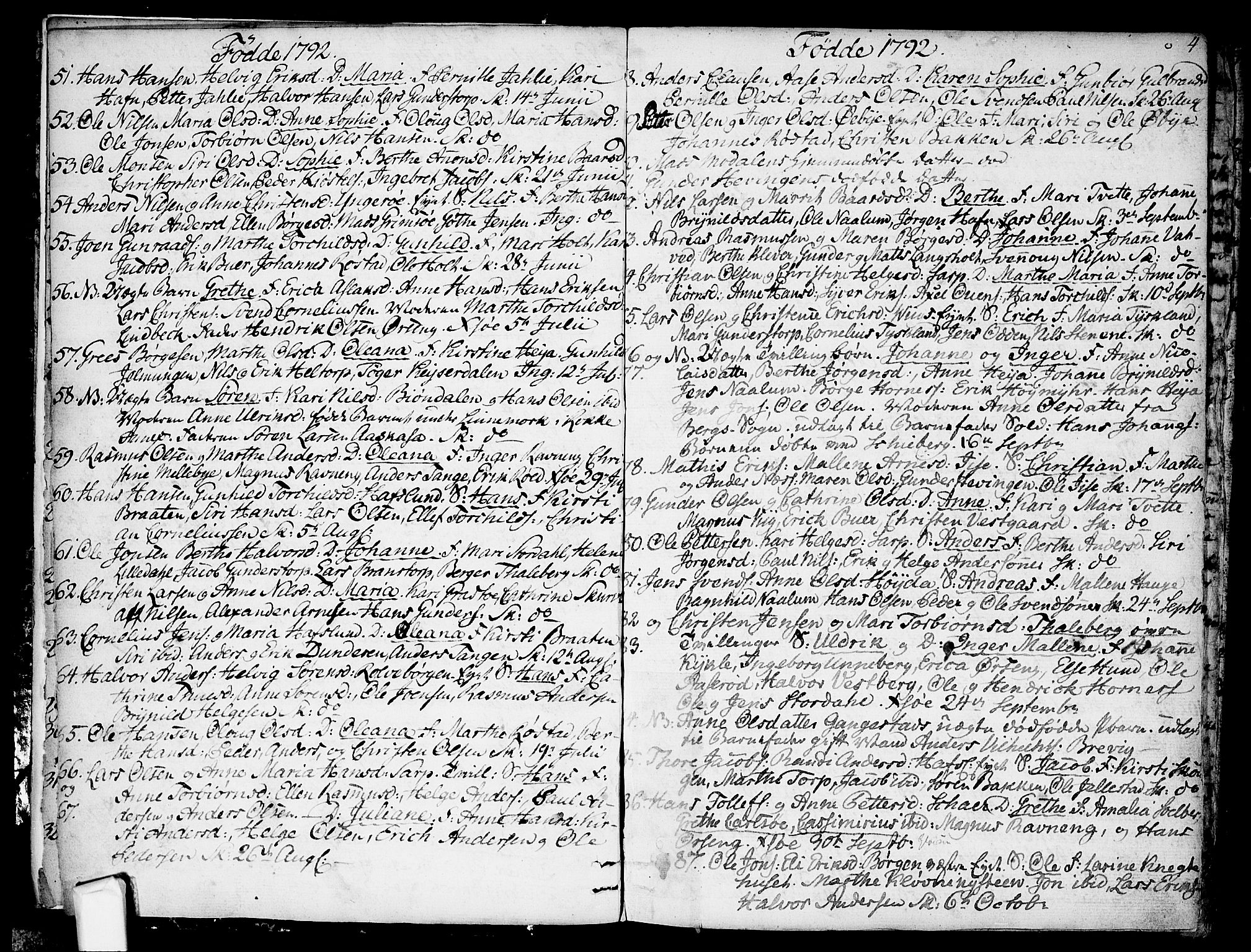 SAO, Skjeberg prestekontor Kirkebøker, F/Fa/L0003: Ministerialbok nr. I 3, 1792-1814, s. 4