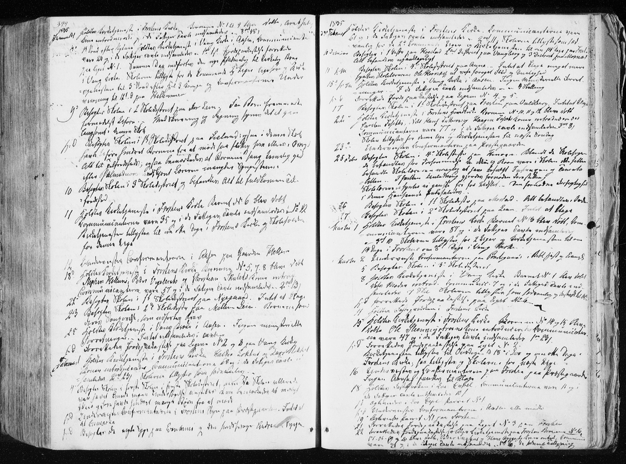 SAT, Ministerialprotokoller, klokkerbøker og fødselsregistre - Nord-Trøndelag, 713/L0114: Ministerialbok nr. 713A05, 1827-1839, s. 344