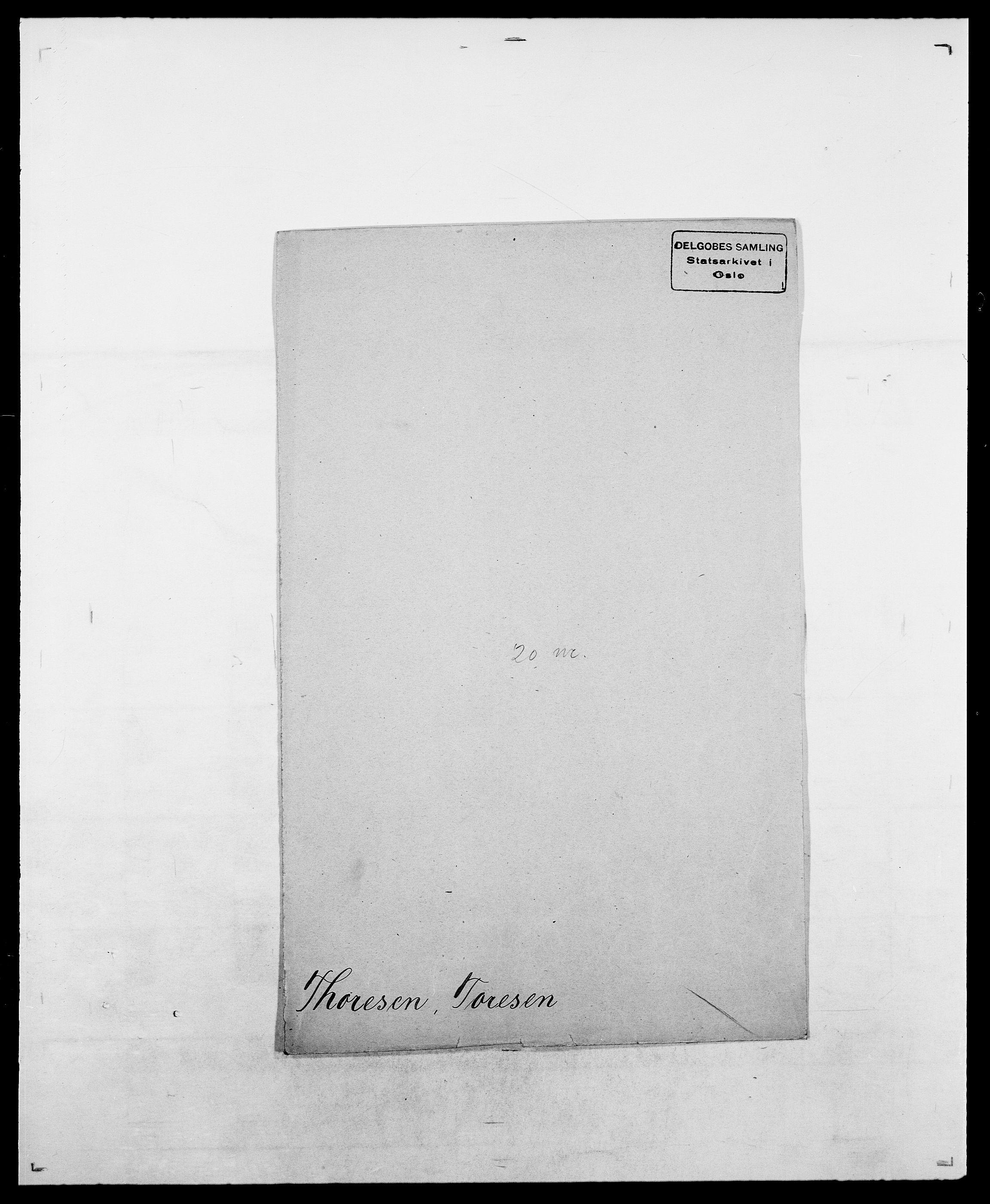 SAO, Delgobe, Charles Antoine - samling, D/Da/L0038: Svanenskjold - Thornsohn, s. 842