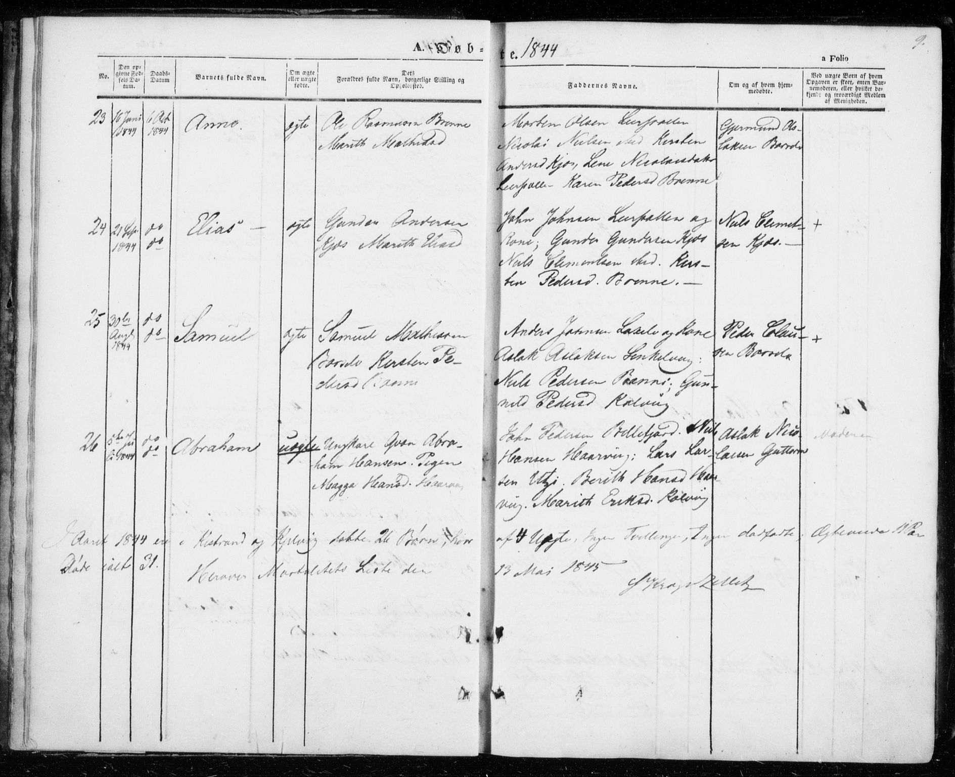 SATØ, Kistrand/Porsanger sokneprestembete, H/Ha/L0004.kirke: Ministerialbok nr. 4, 1843-1860, s. 9