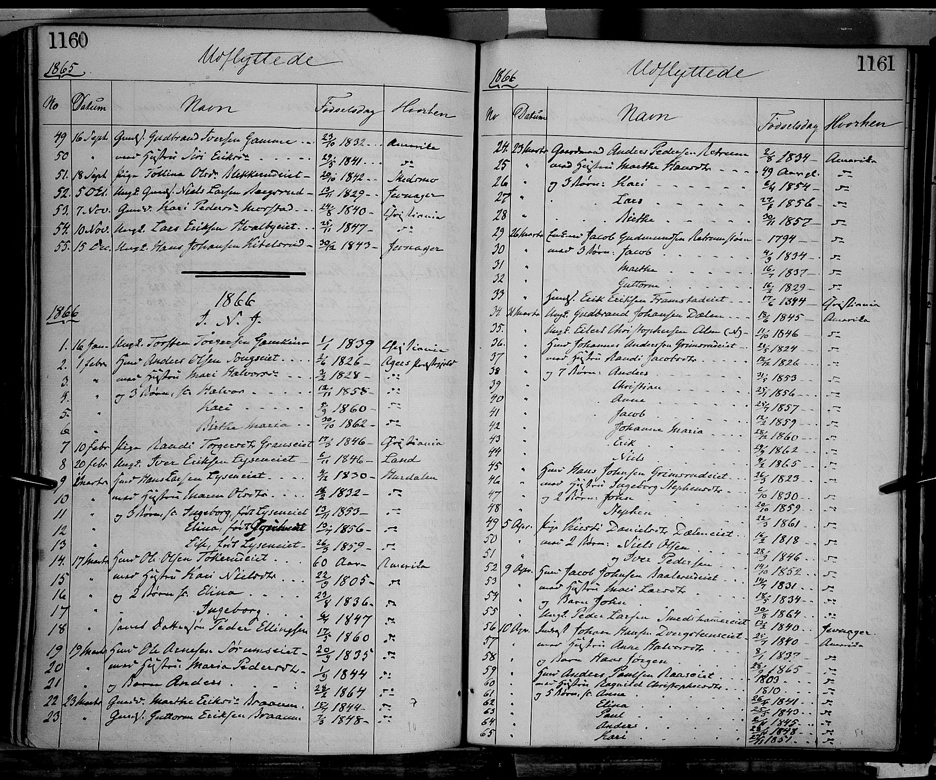SAH, Gran prestekontor, Ministerialbok nr. 12, 1856-1874, s. 1160-1161