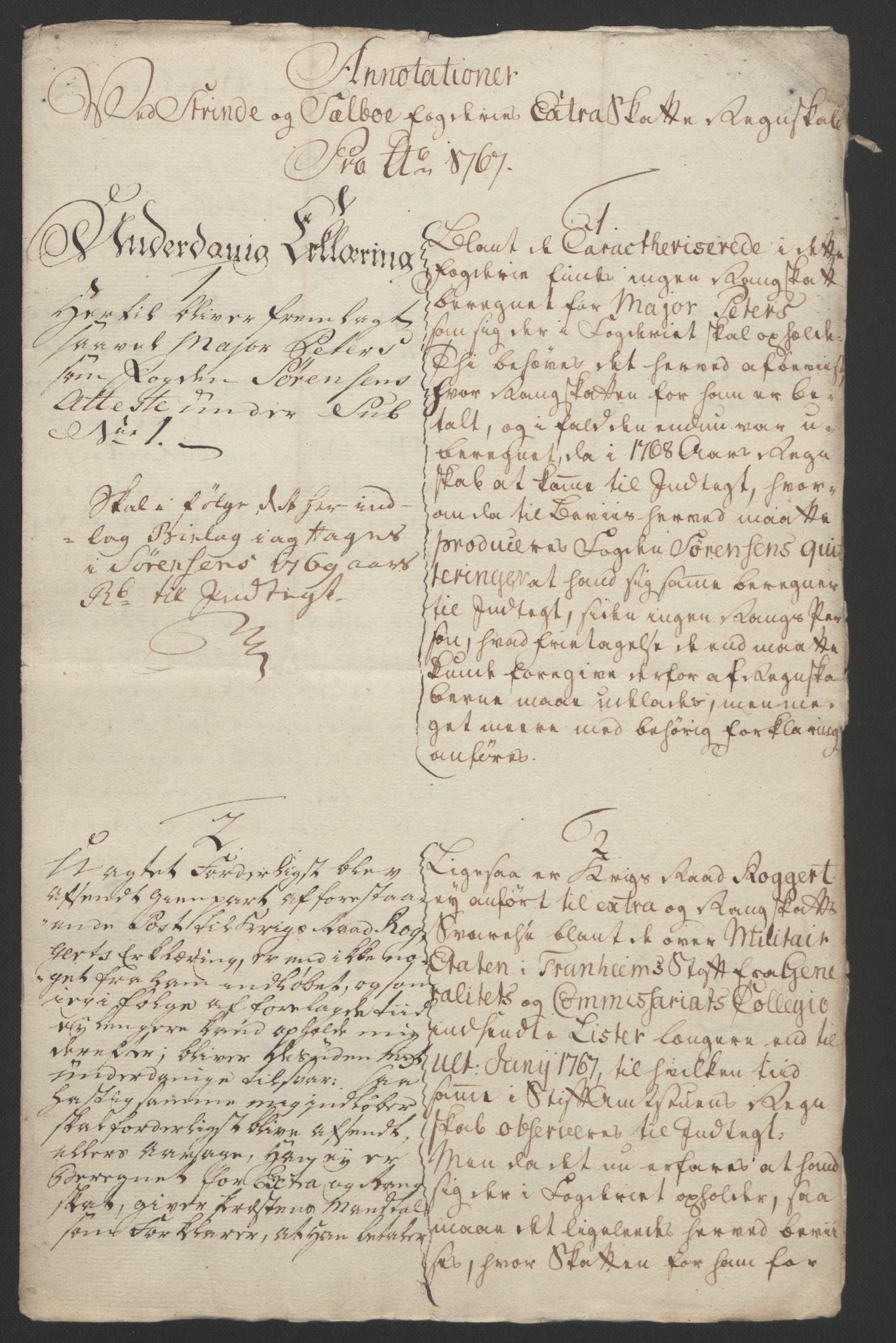 RA, Rentekammeret inntil 1814, Reviderte regnskaper, Fogderegnskap, R61/L4180: Ekstraskatten Strinda og Selbu, 1762-1767, s. 418