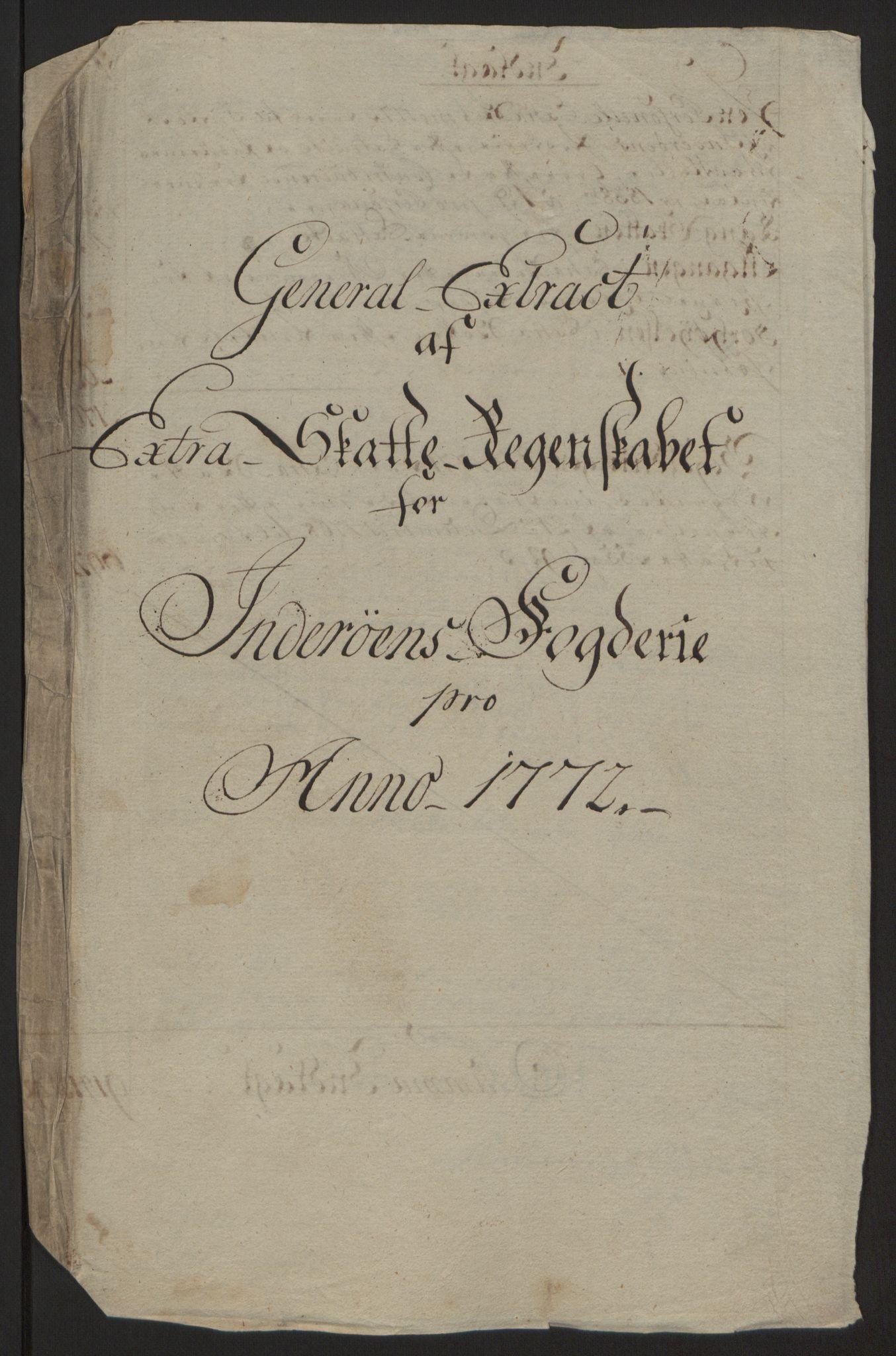 RA, Rentekammeret inntil 1814, Reviderte regnskaper, Fogderegnskap, R63/L4420: Ekstraskatten Inderøy, 1762-1772, s. 495