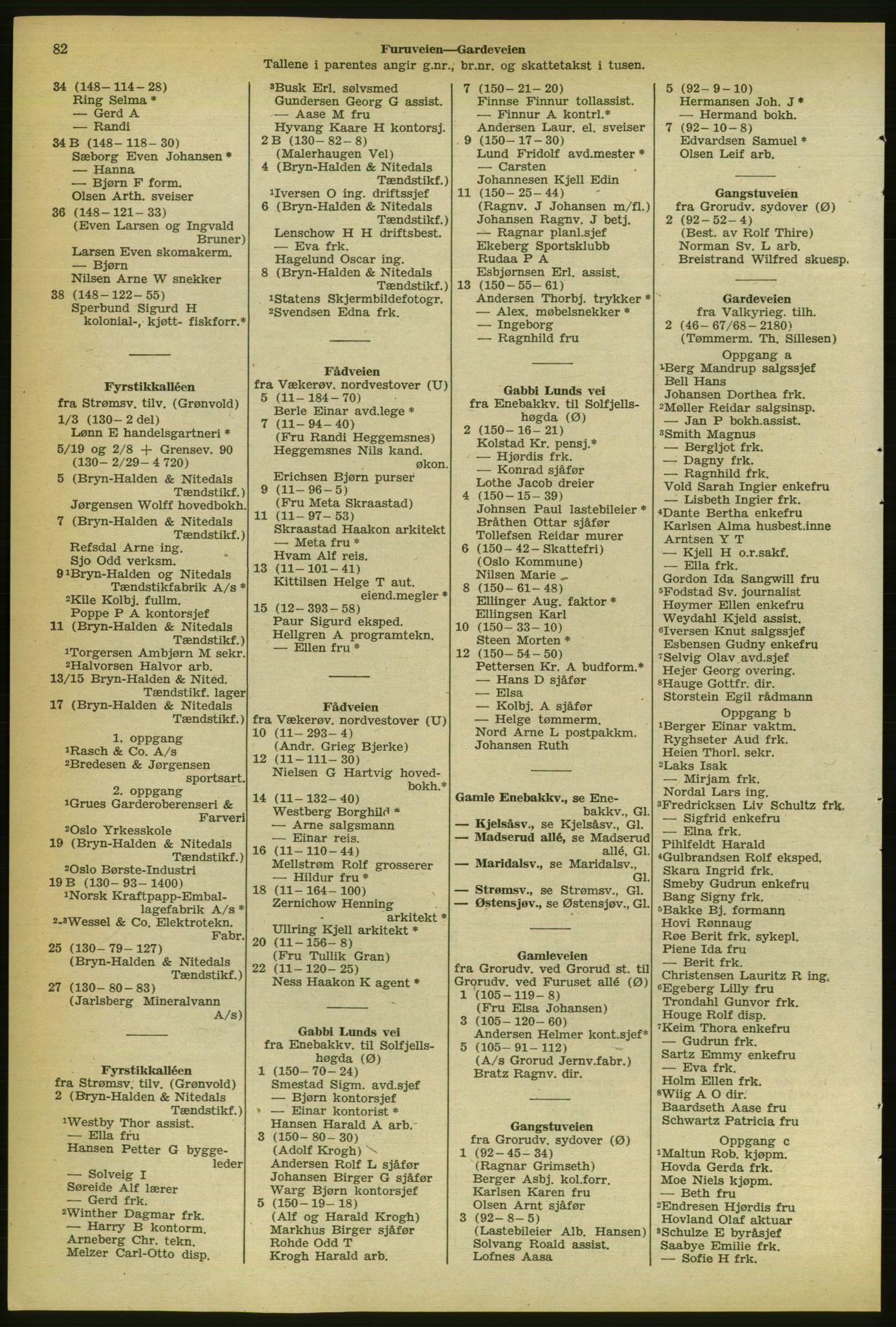 PUBL, Kristiania/Oslo adressebok, 1956-1957, s. 82