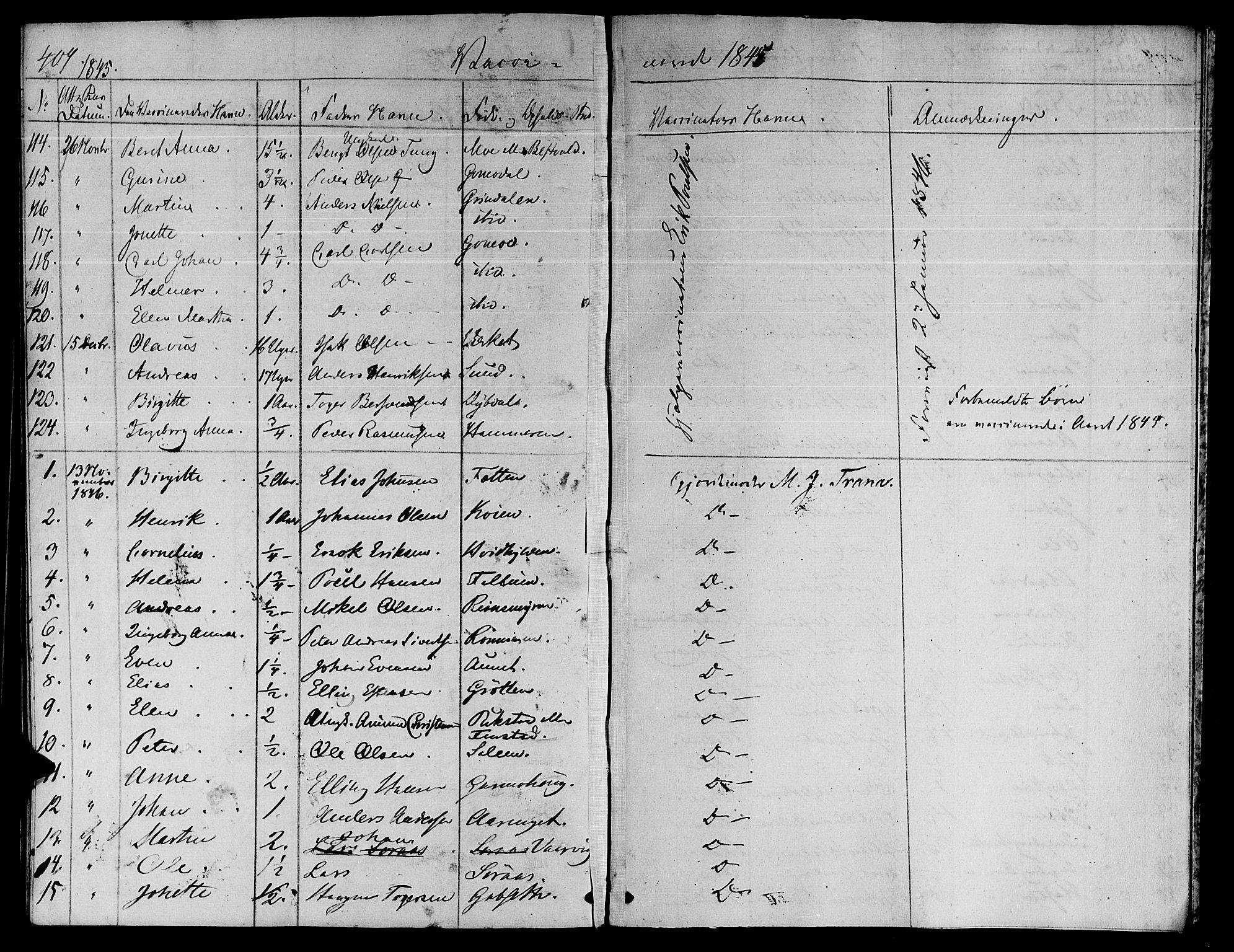 SAT, Ministerialprotokoller, klokkerbøker og fødselsregistre - Sør-Trøndelag, 646/L0610: Ministerialbok nr. 646A08, 1837-1847, s. 407