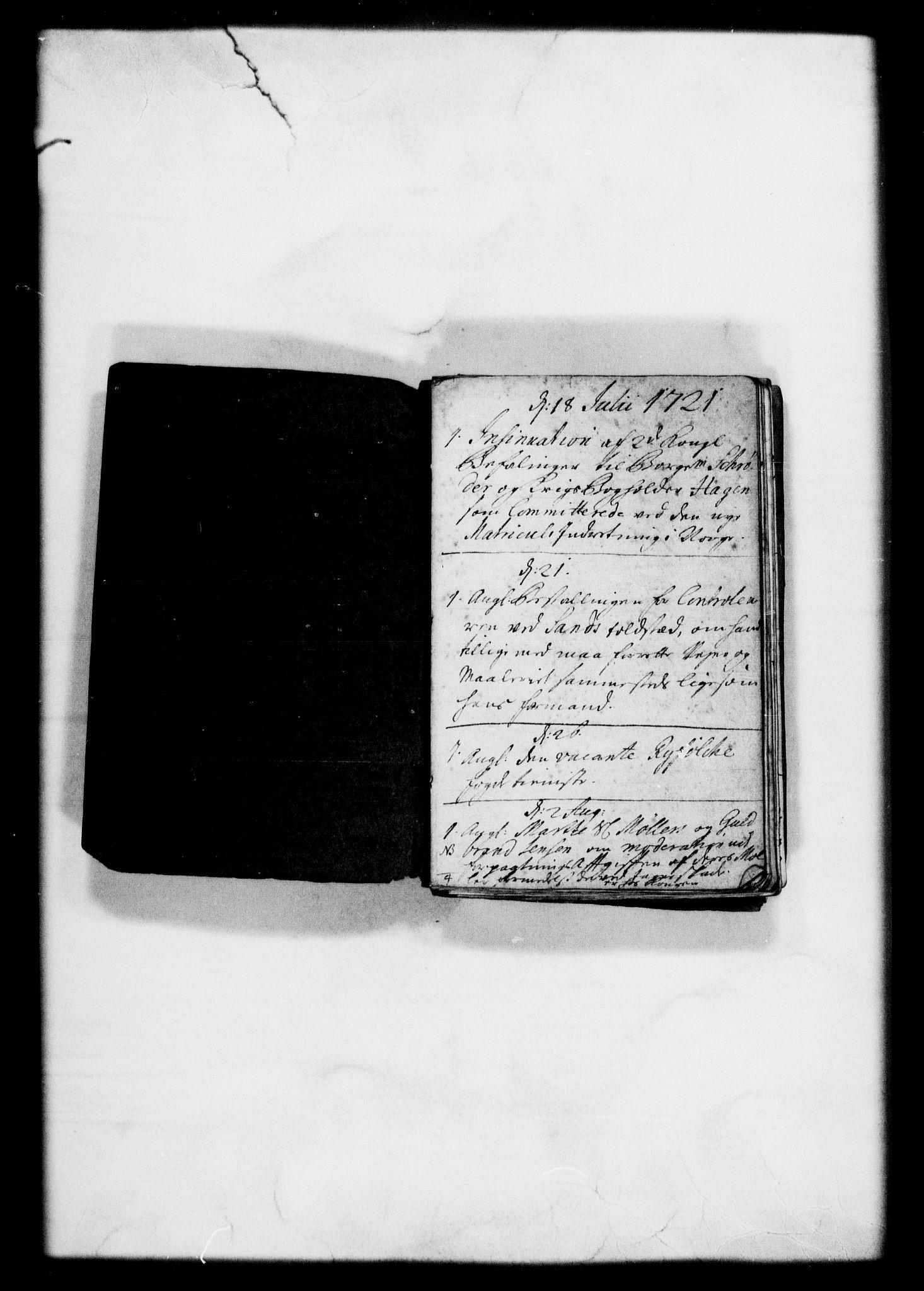 RA, Rentekammeret, Kammerkanselliet, G/Gf/Gfb/L0001: Register til norske relasjons- og resolusjonsprotokoller (merket RK 52.96), 1720-1749, s. 4