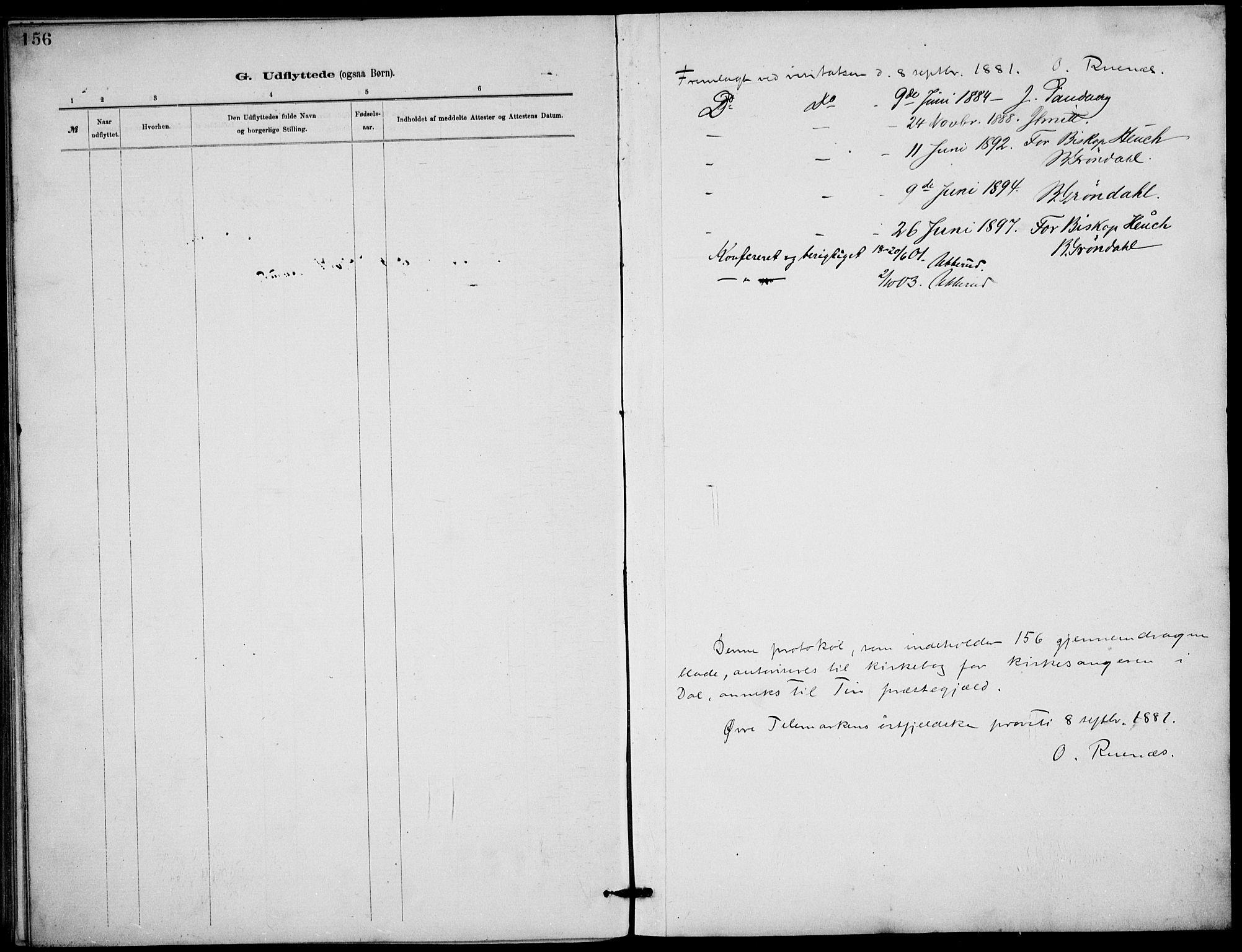 SAKO, Rjukan kirkebøker, G/Ga/L0001: Klokkerbok nr. 1, 1880-1914, s. 156