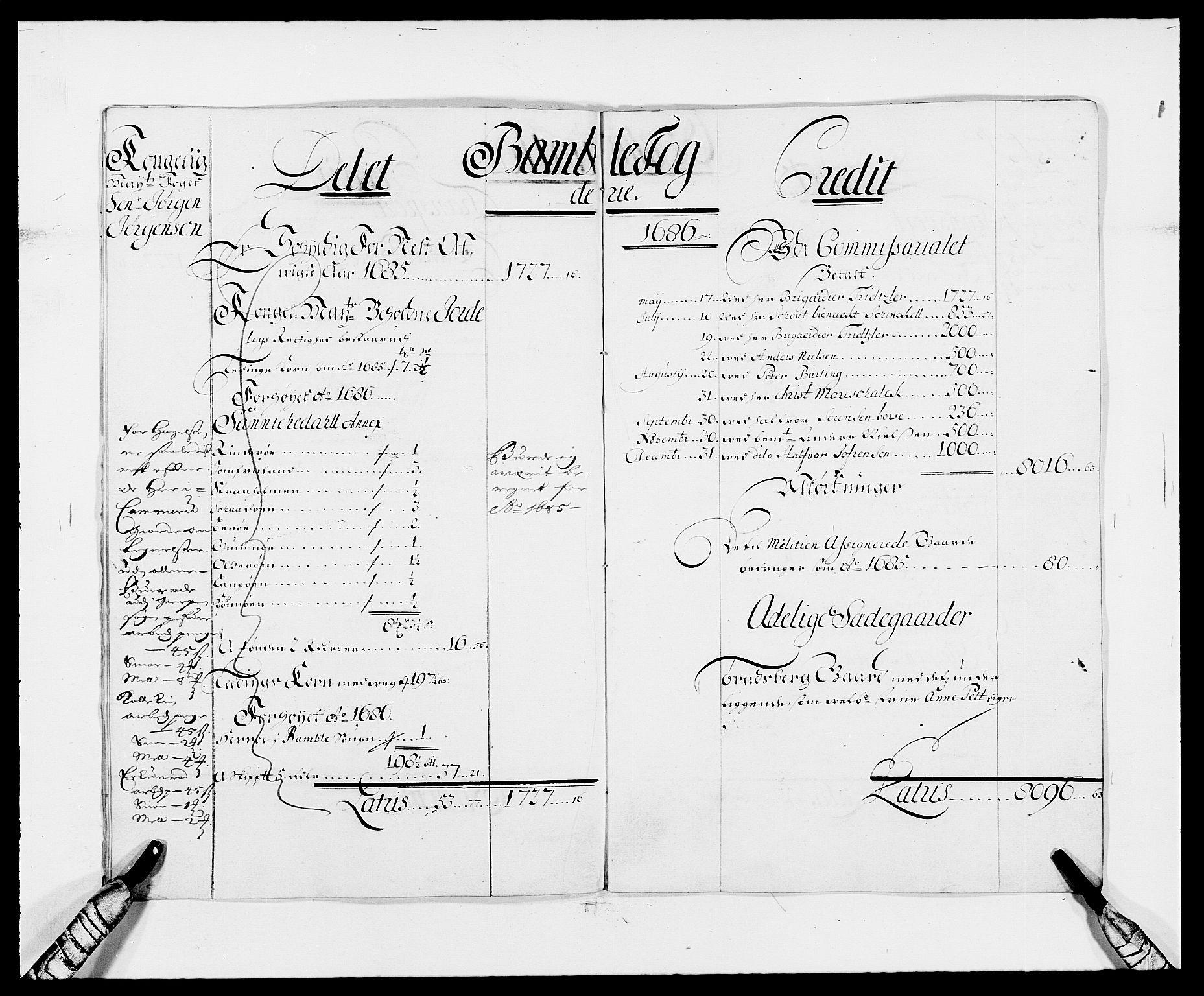 RA, Rentekammeret inntil 1814, Reviderte regnskaper, Fogderegnskap, R34/L2048: Fogderegnskap Bamble, 1685-1687, s. 28